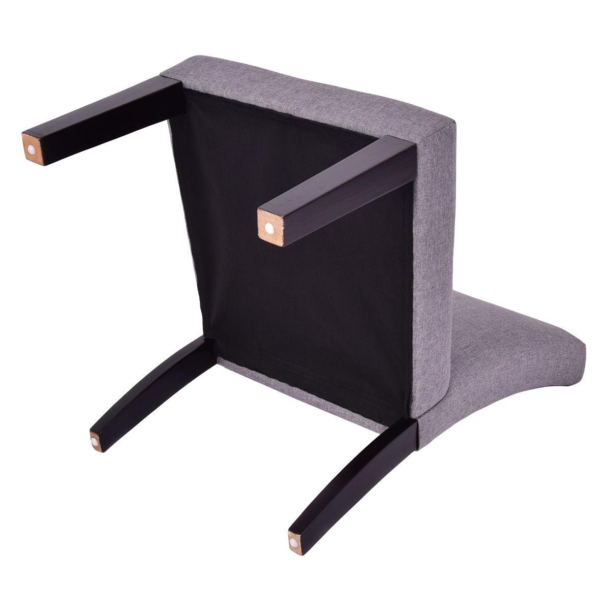 Modern Upholstered Armless Slipper Chair