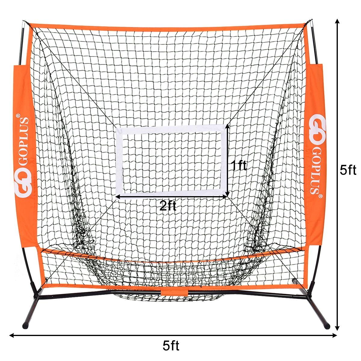 5' × 5' Practice Hitting Baseball Net