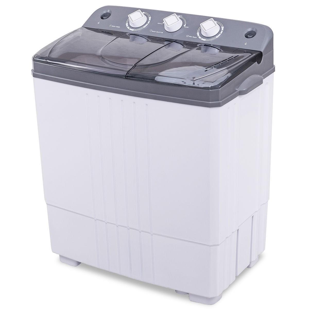 16 lbs Twin-tub Portable Mini Washing Machine