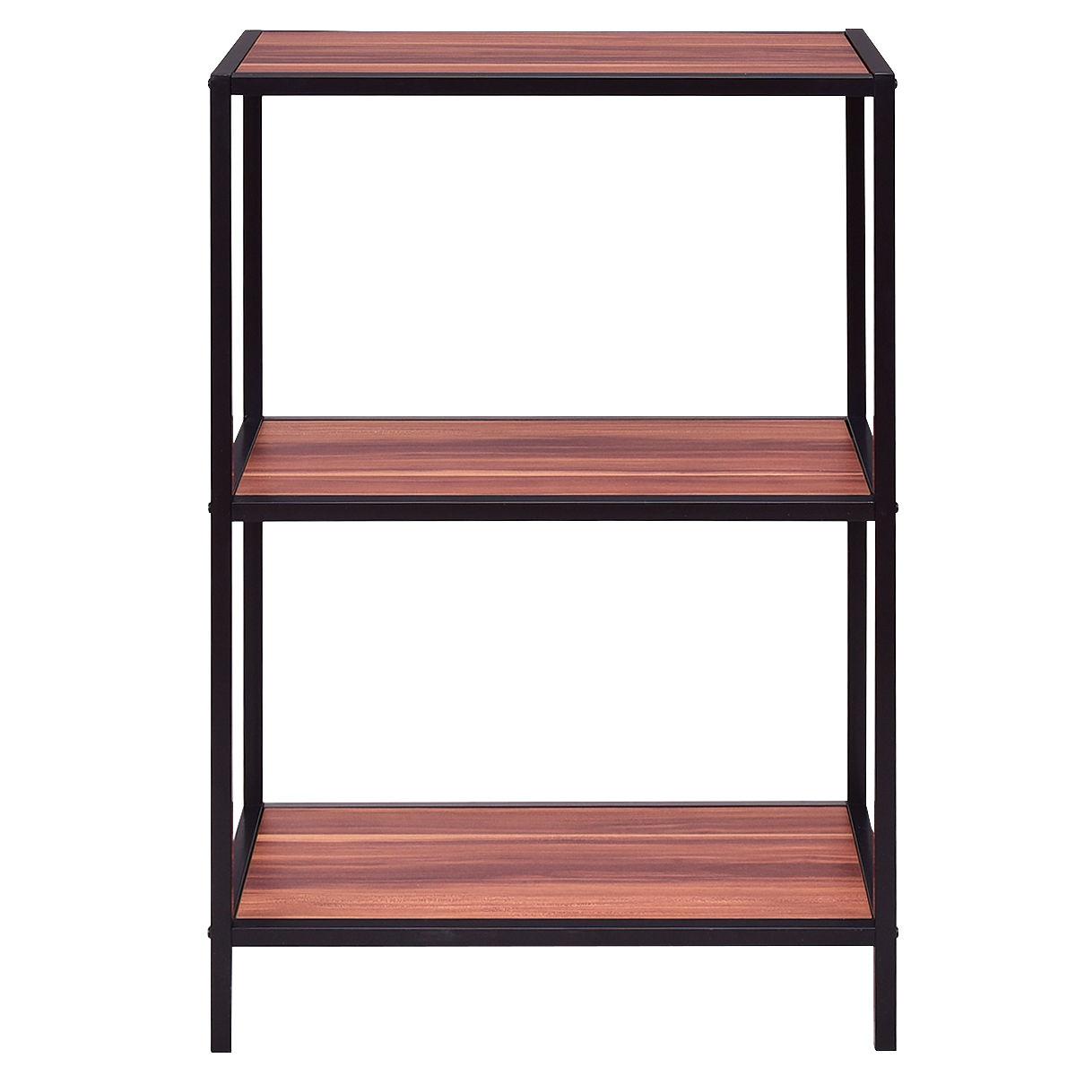3-Tier Portable Metal Frame Storage Shelf