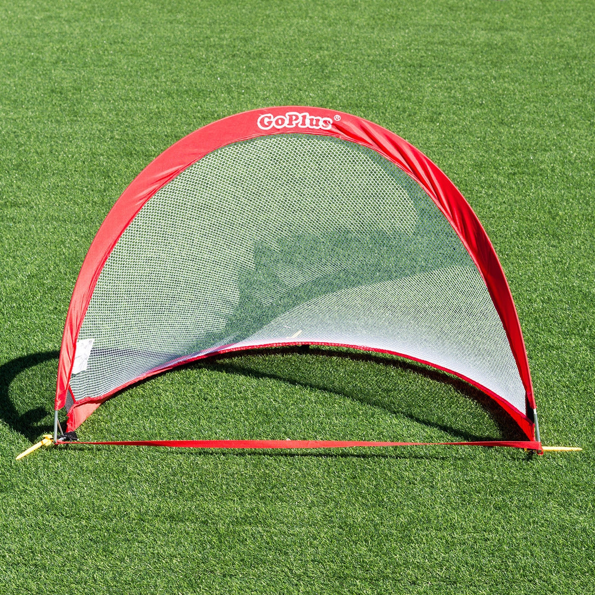 Set of 2 Portable 4' Pop-up Soccer Goals Set w/ Carrying Bag