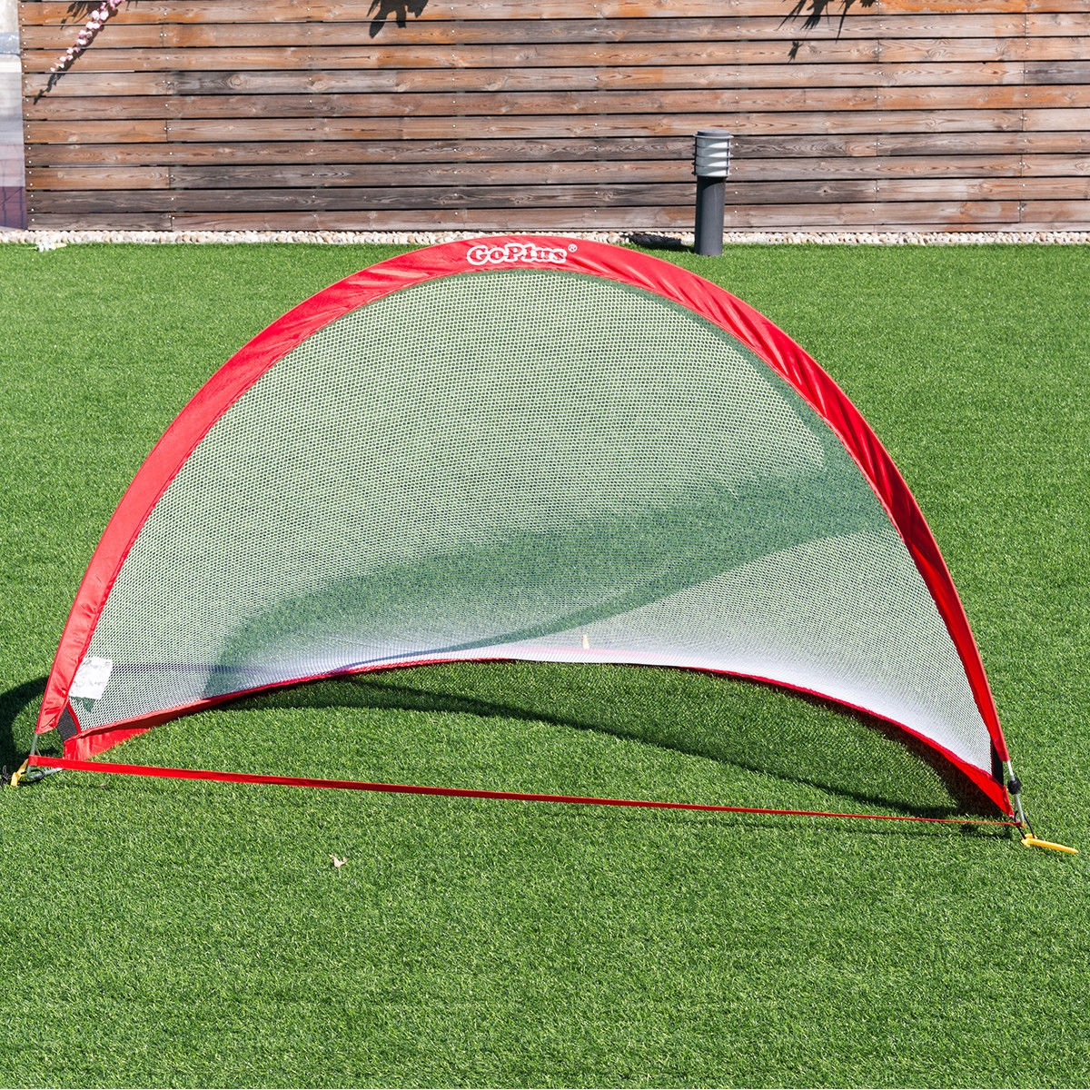 Set of 2 Portable 6' Pop-up Soccer Goals Set w/ Carrying Bag