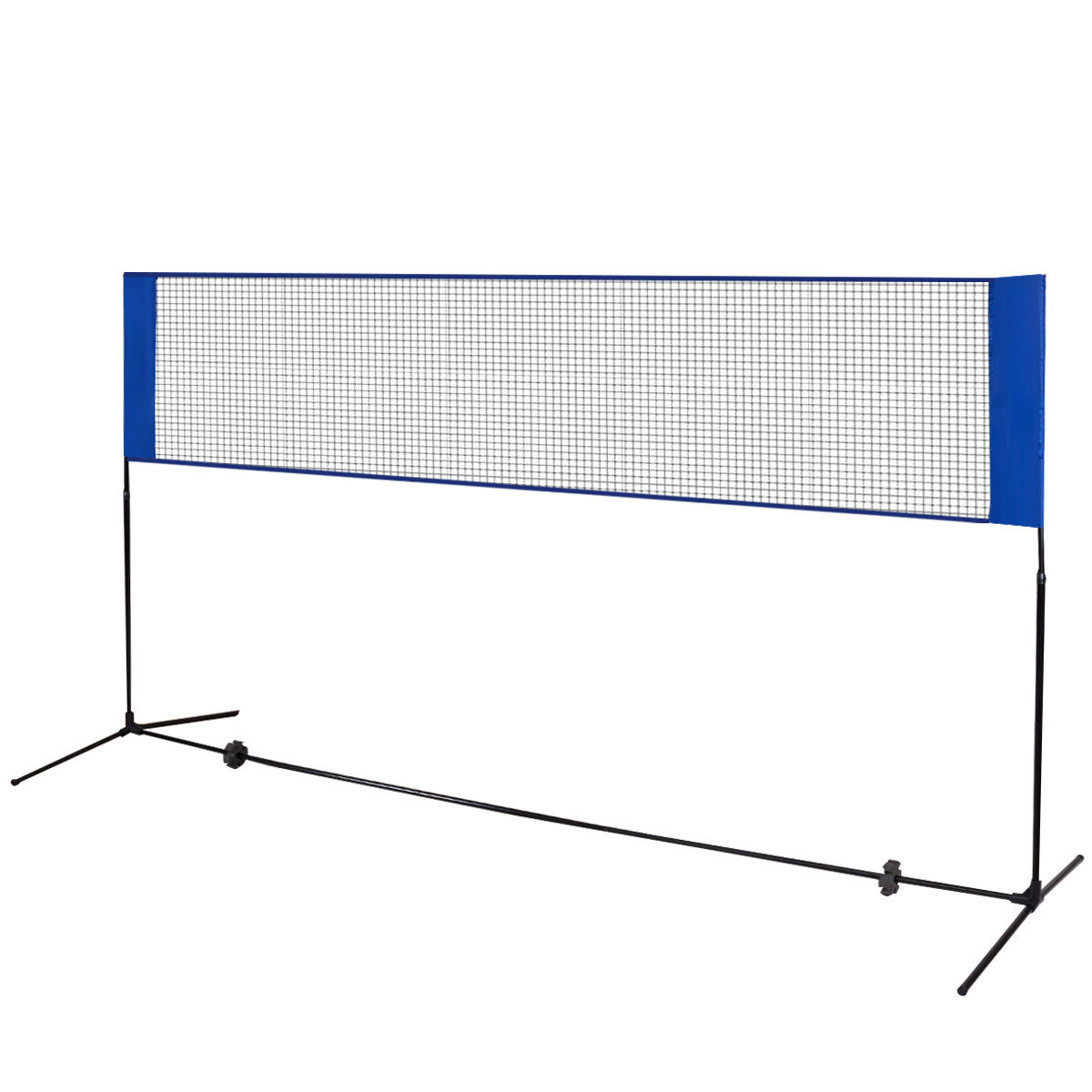 Portable 10' x 5' Beach Badminton Training Net w/ Carrying Bag