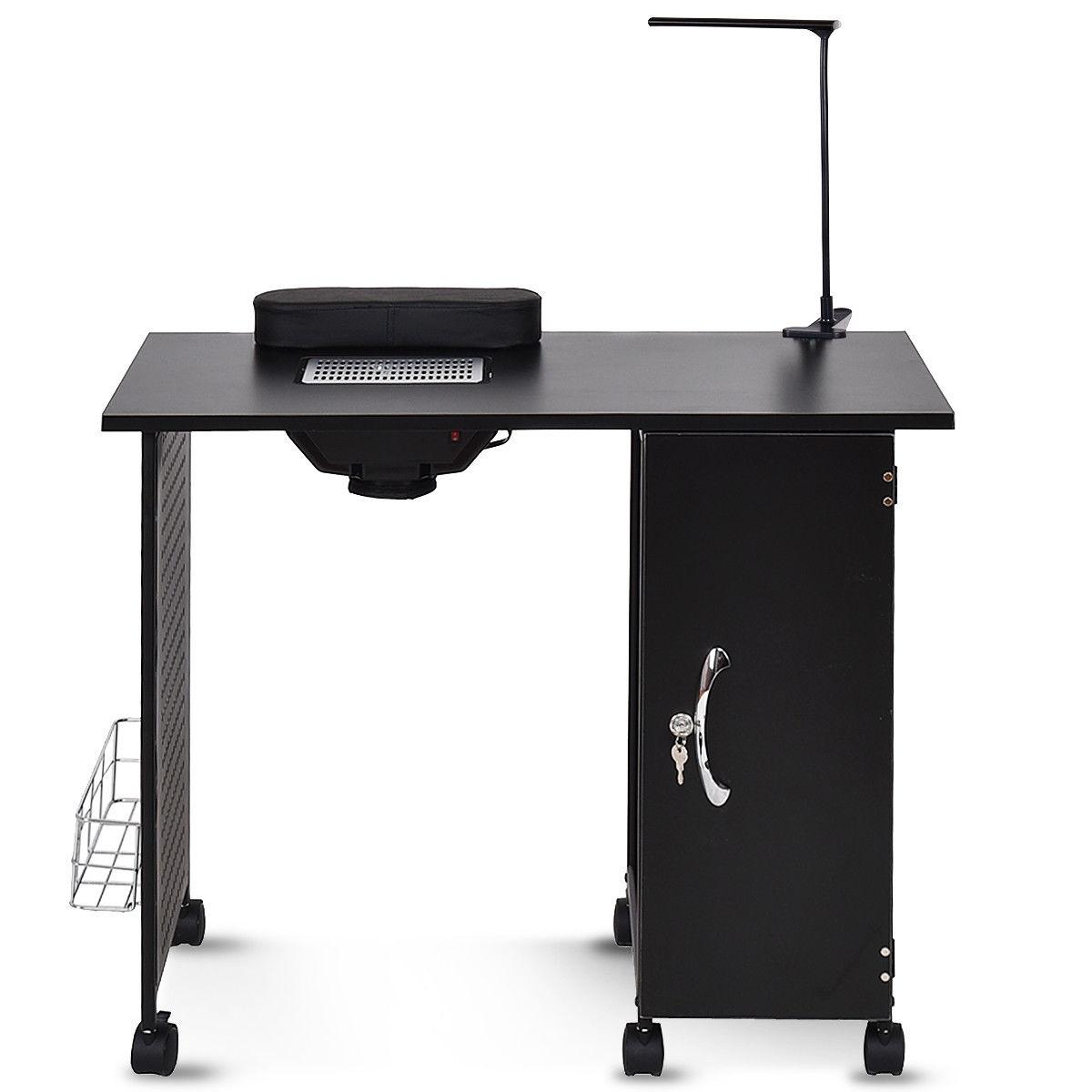 Deluxe Salon Steel Frame Manicure Table