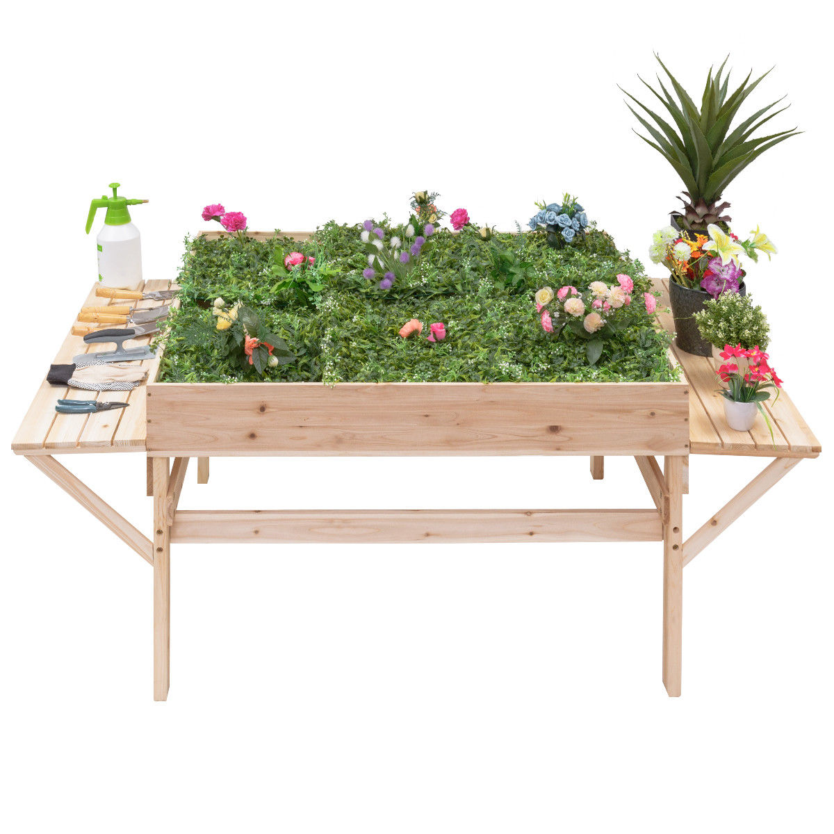 Garden Wood Raised Durable Planter Bed
