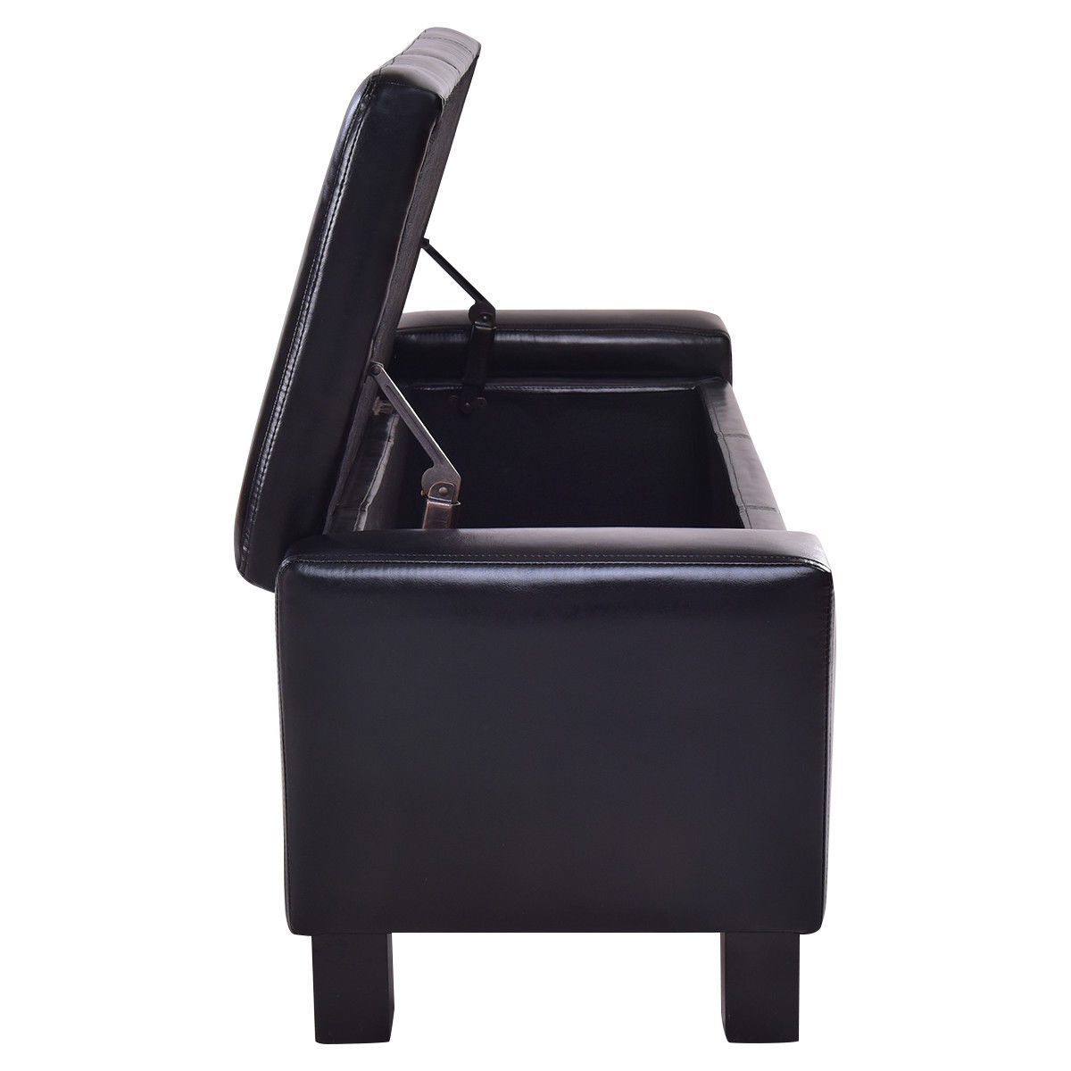 PU Leather Storage Chest Footstool Ottoman