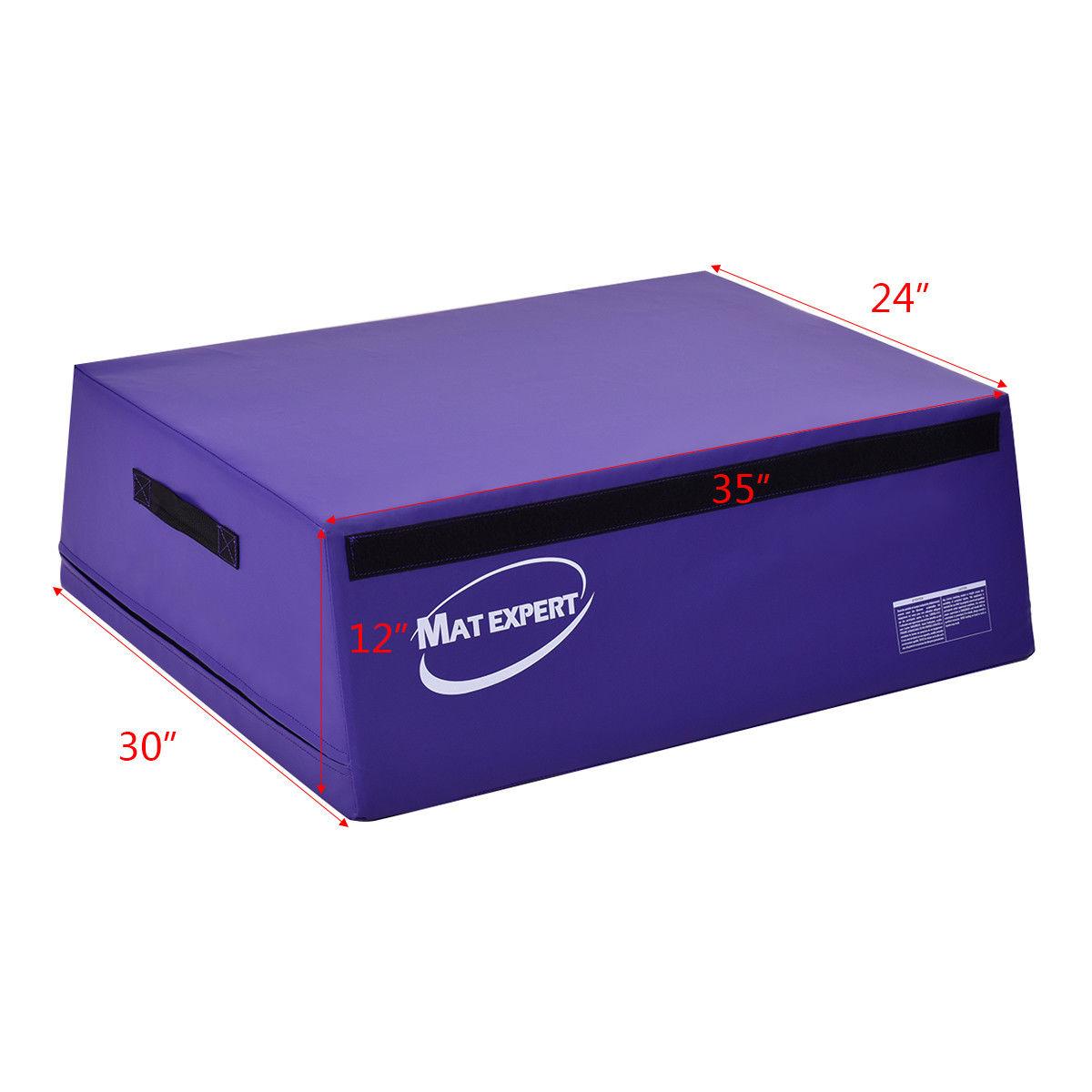 Gymnastics Plyometric Trapezoid Foam Vaulting Jumping Box-Purple