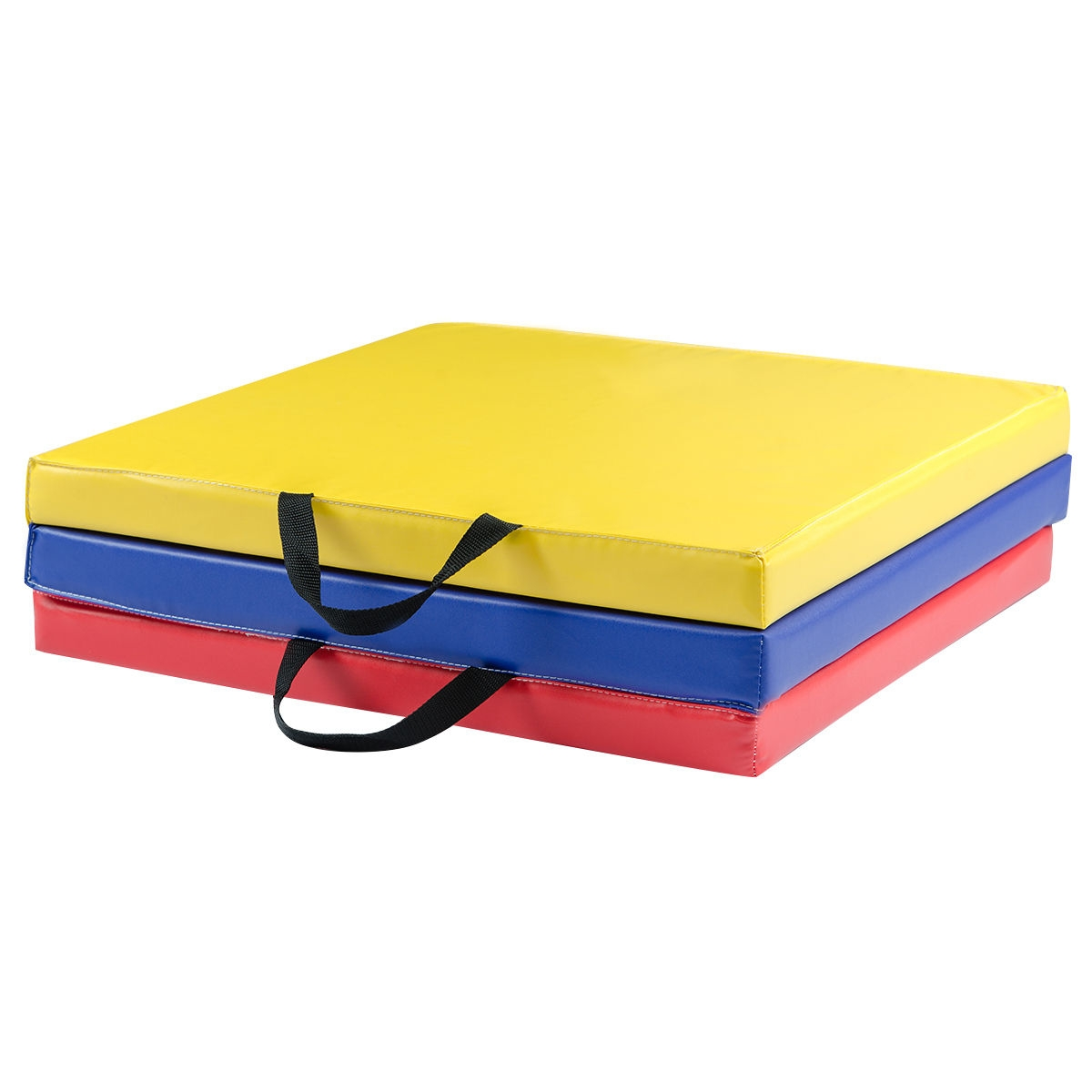 6' x 2' Exercise Tri-Fold Gymnastics Mat w/ Carrying Handles