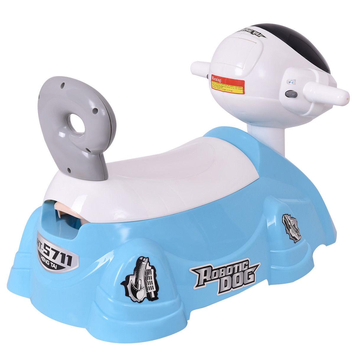Dog Shaped Slide Baby Potty Training Toilet with Music