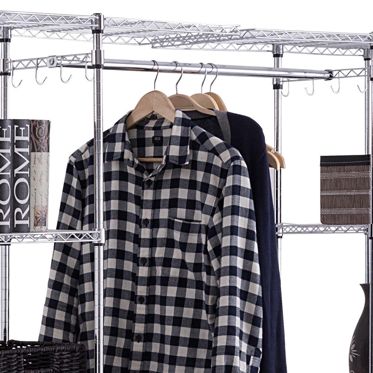 Expandable Free Standing Closet Clothes Hanger Rack