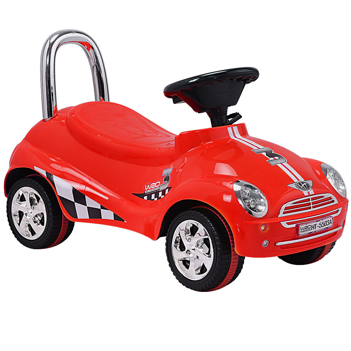 Christmas Gift Kids Riding Push Gliding Scooter Car-Red