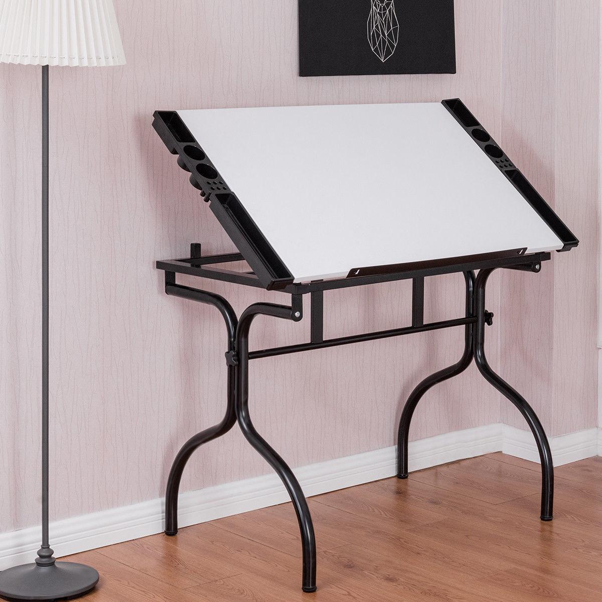 Adjustable Folding Drafting Table Drawing Desk