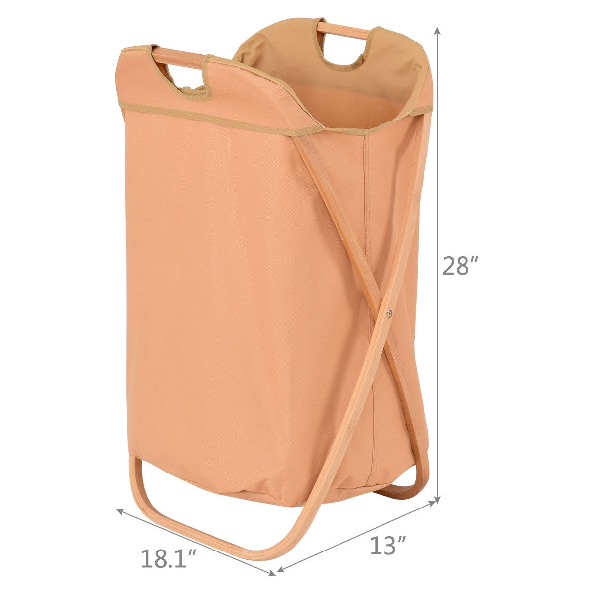Folding X-Frame Laundry Hamper Clothes Storage Basket