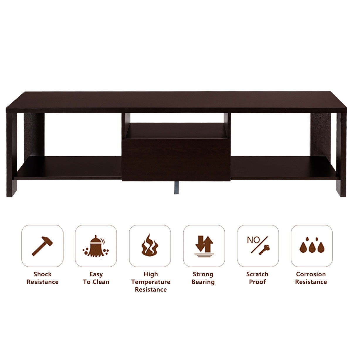Media Entertainment Console TV Cabinet Stand w/ Drawer