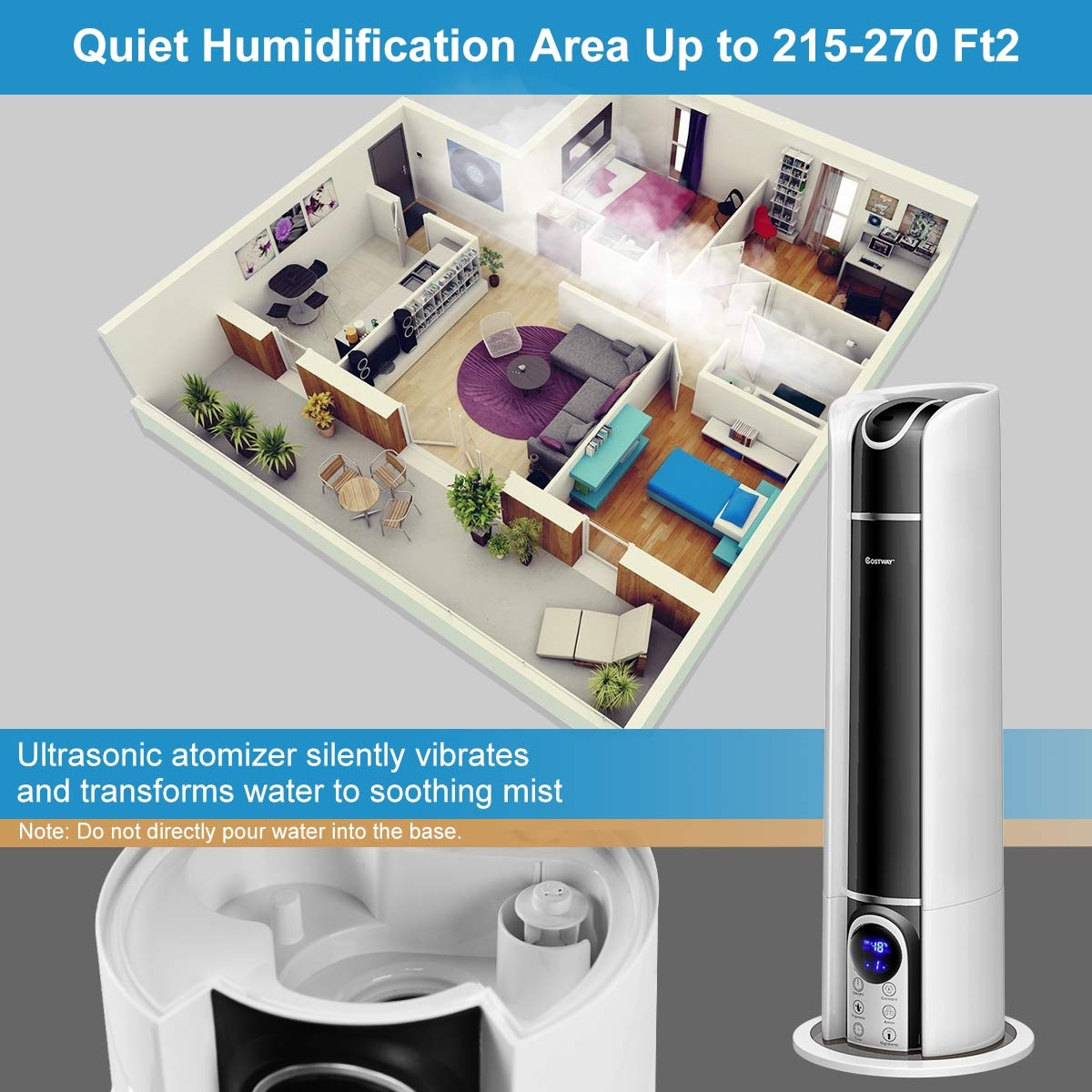 6L Cool Mist Air Diffuser Humidifier