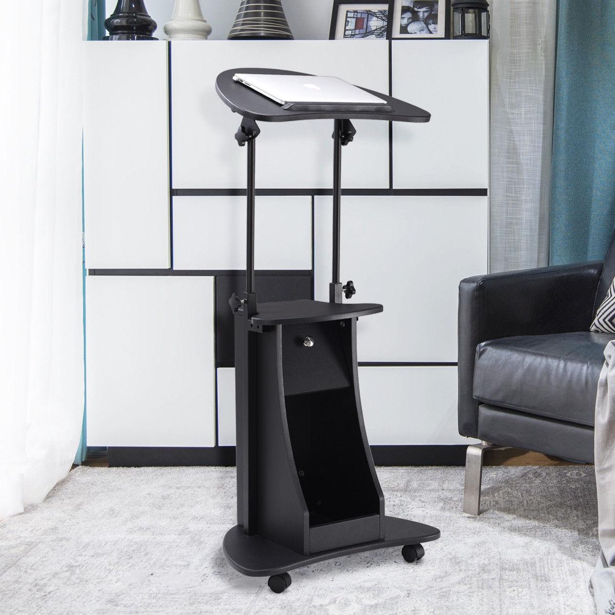 Height Adjustable Tilt Top Laptop Stand Desk