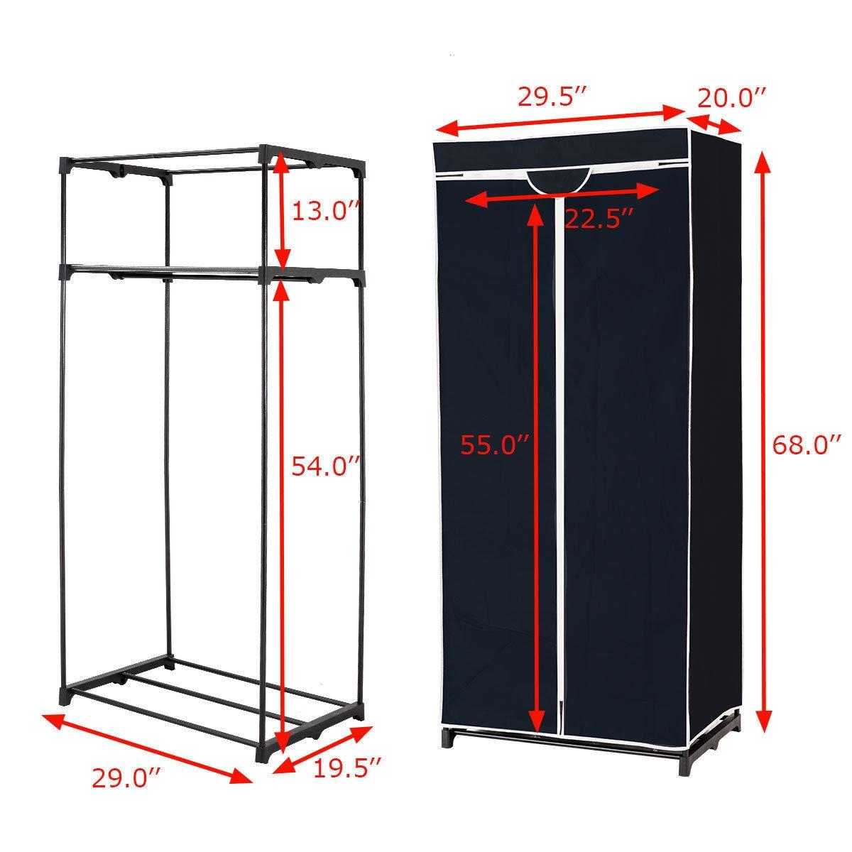 Non-woven Fabric Wardrobe Storage Portable Clothes Closet