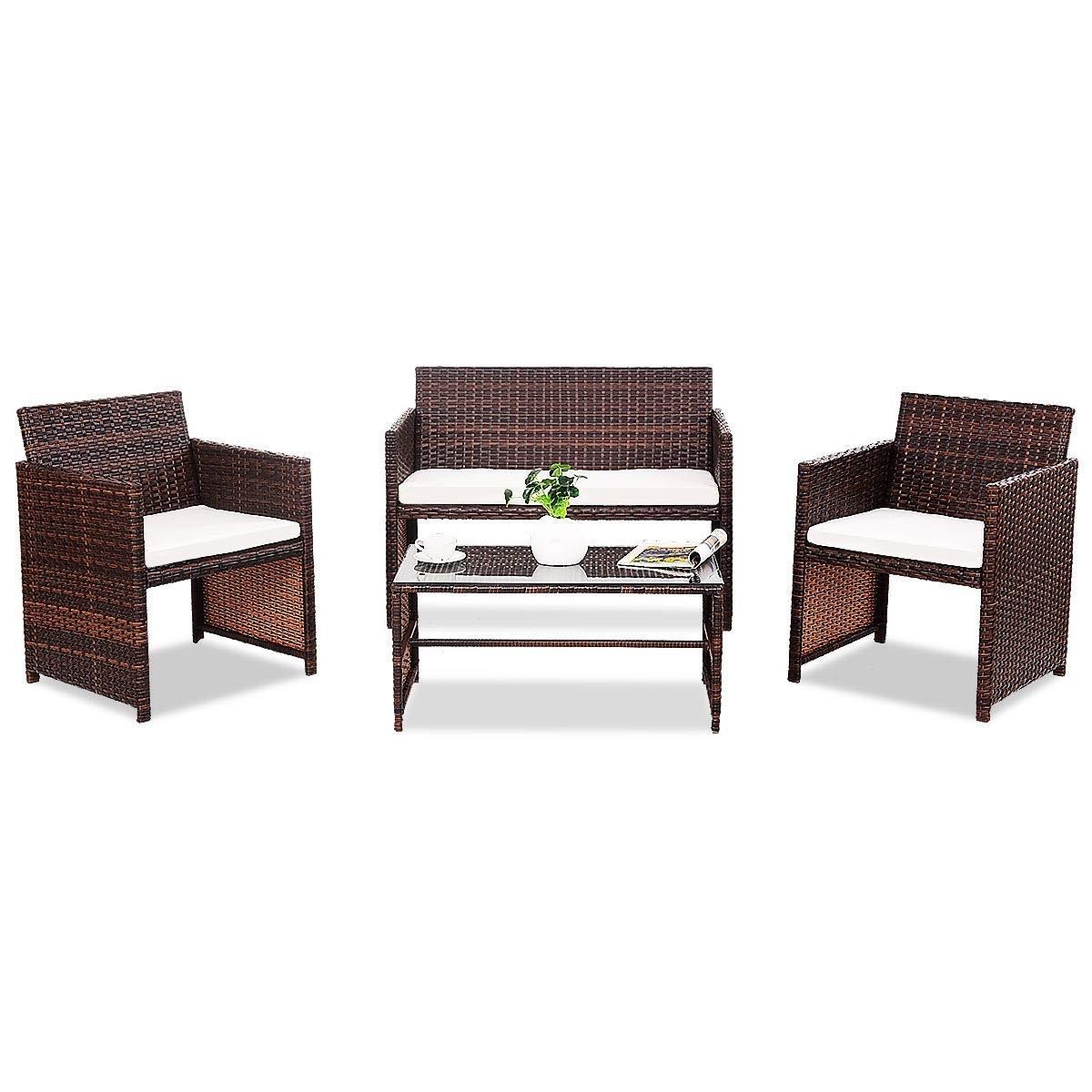 4 pcs Sofa Cushioned Seat Furniture Set