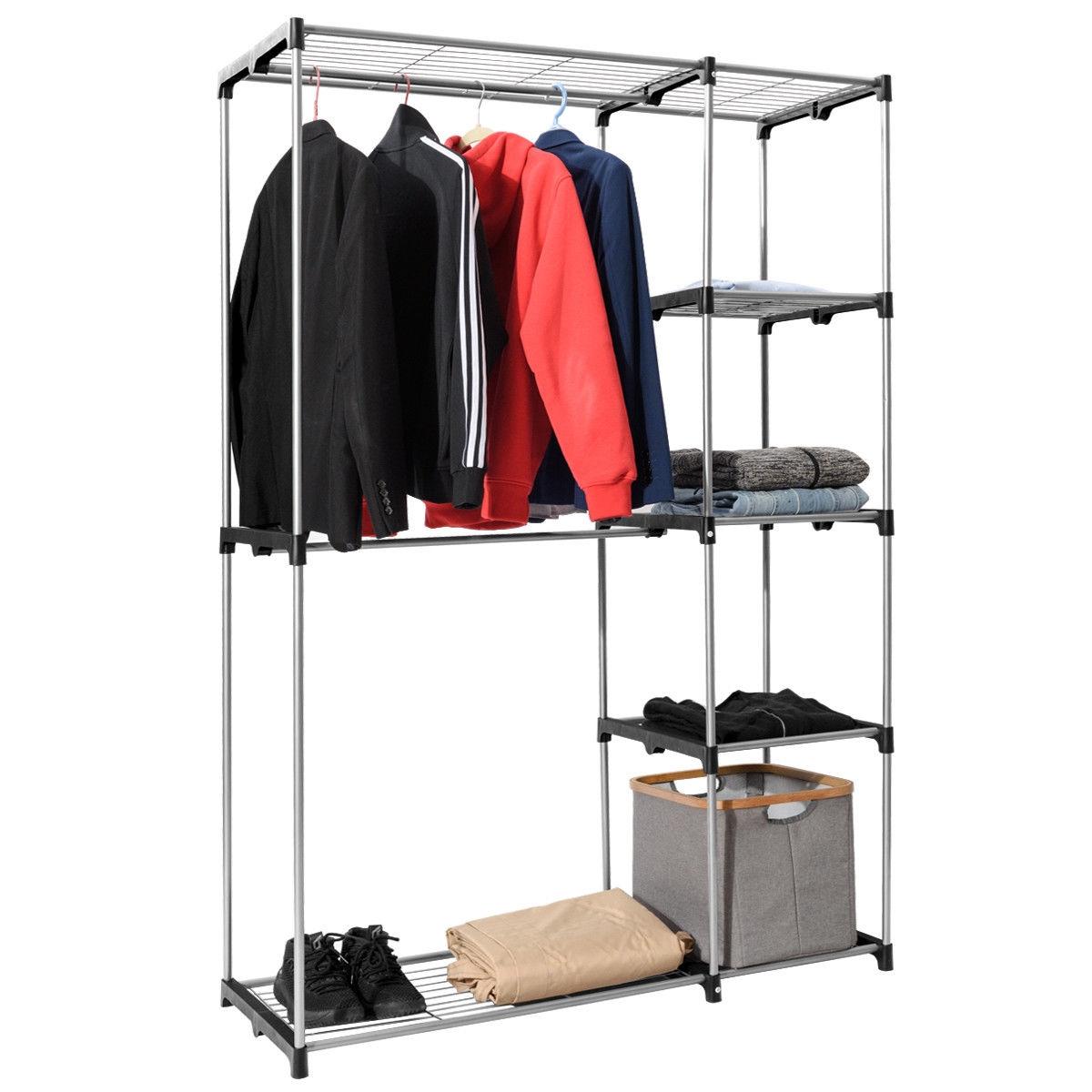 Portable Closet Organizer Garment Rack