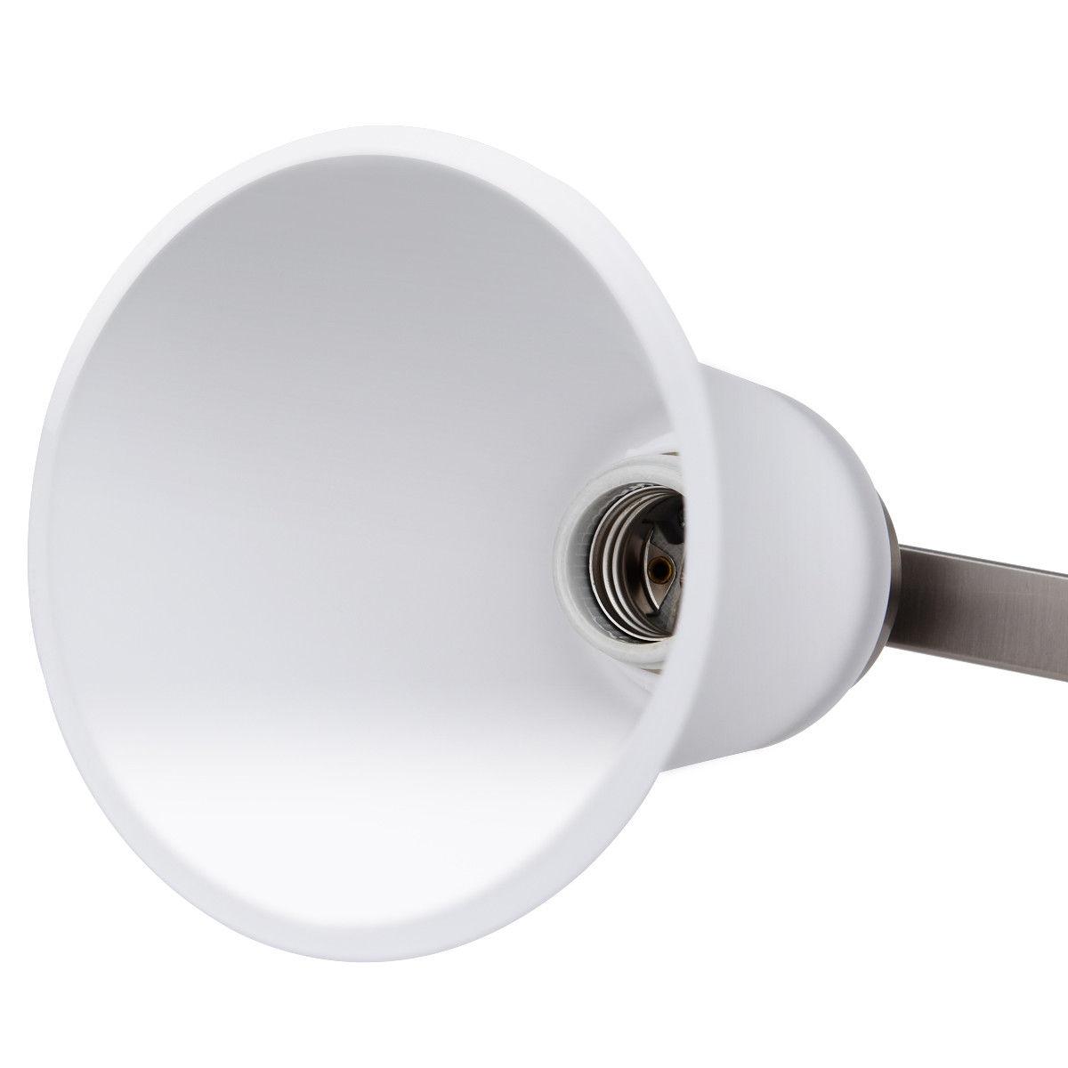 4-Light Vanity Light w/ Nickel Finish and Glass Shade