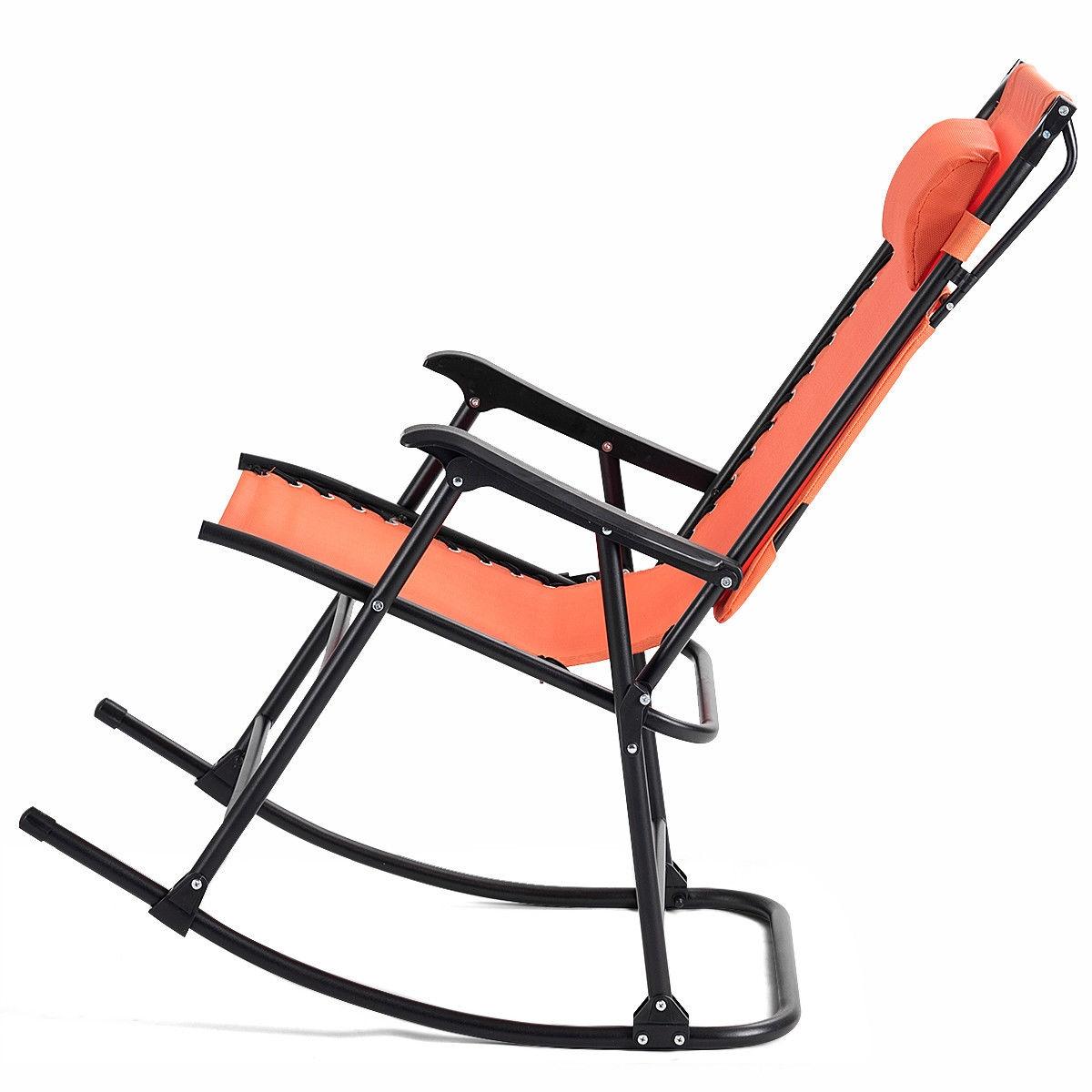 Zero Gravity Folding Rocking Chair Rocker Porch