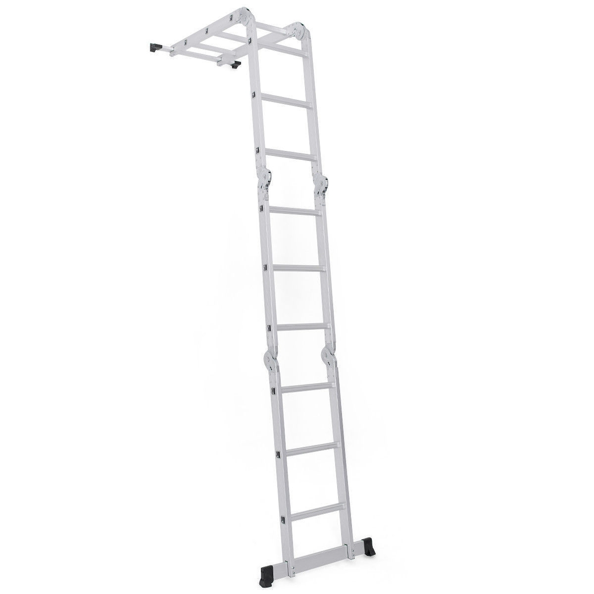 12.5FT EN131 Multi Purpose Step Aluminum Folding Scaffold Ladder