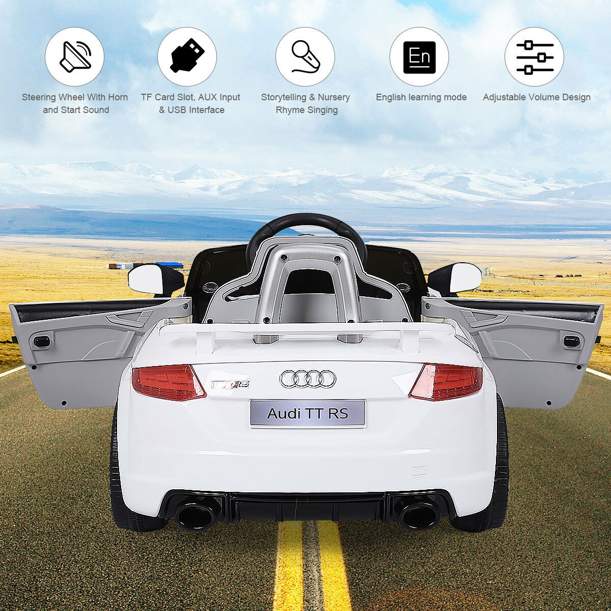 12V Audi TT RS Electric Remote Control MP3 Kids Riding Car