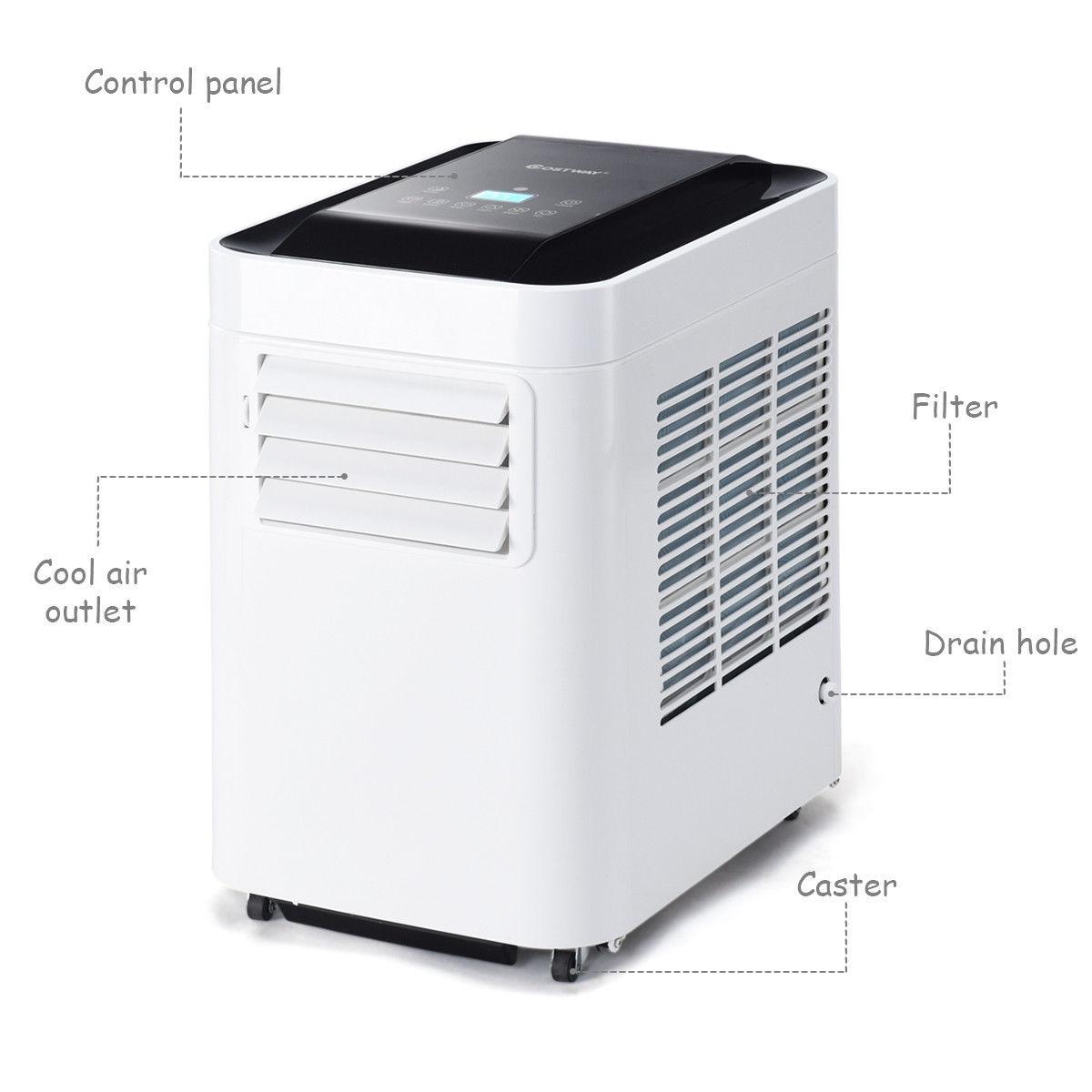 Portable Air Conditioner 10000BTU AC Unit & Dehumidifier w/ Remote Control