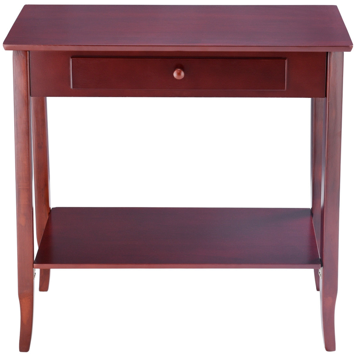 Classic 2-Tier Console Table Porch Table w/ Drawer