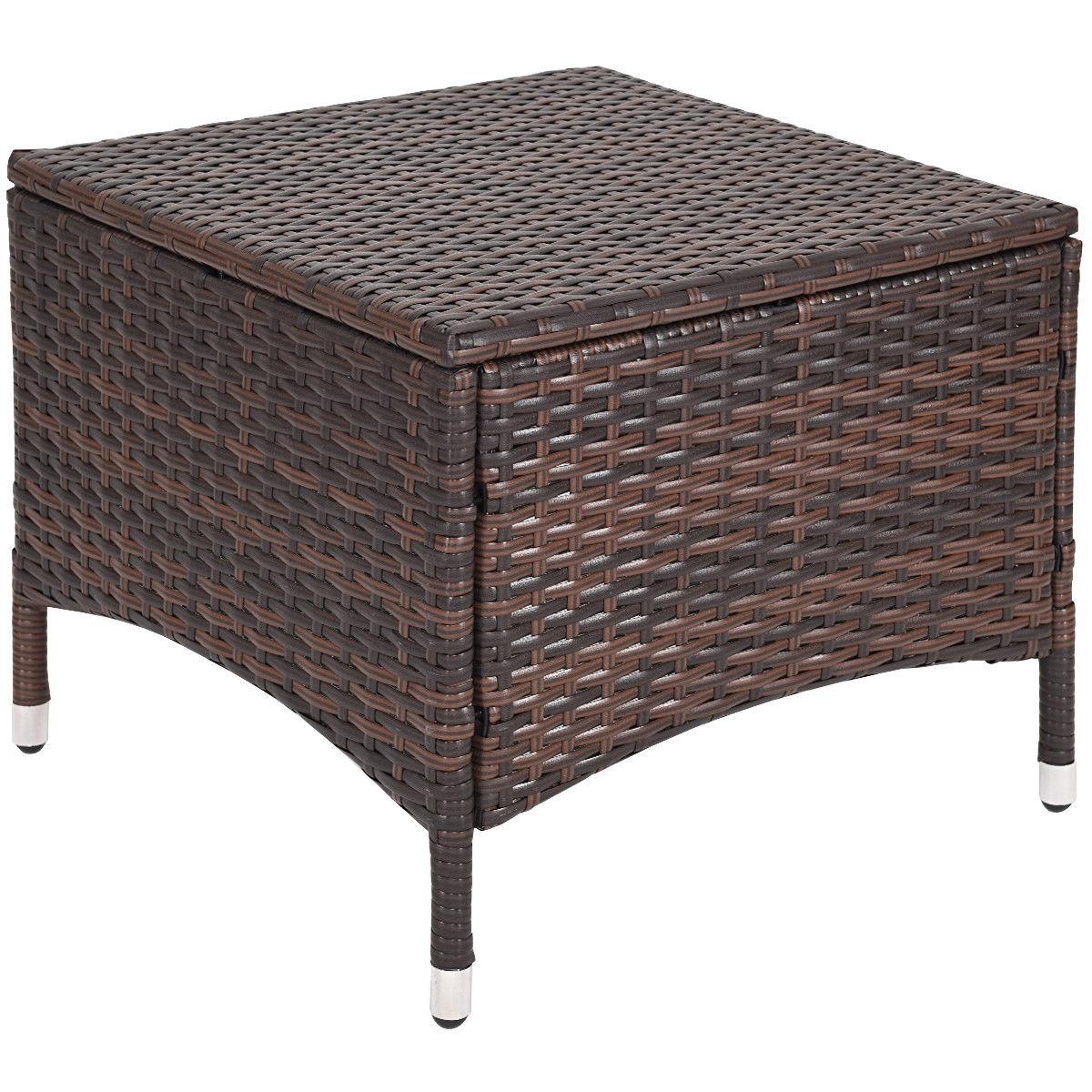 3PCS Outdoor Patio Rattan Wicker Furniture Set