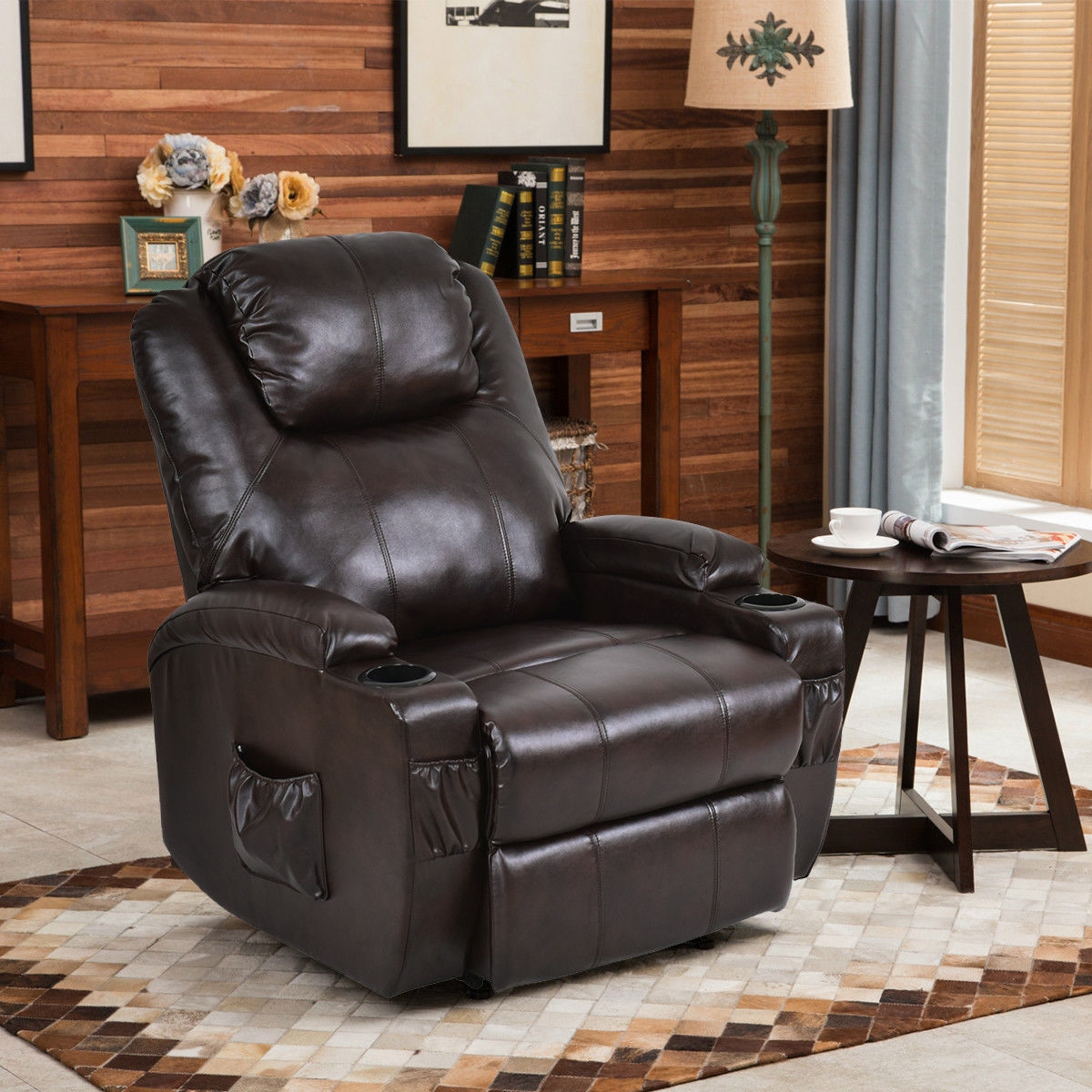 Electric Power Lift Chair Recliner w/ Remote & Cup Holder