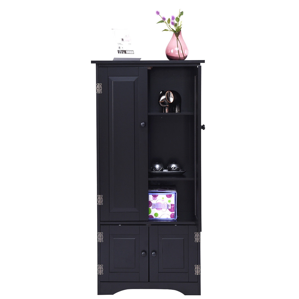 Accent Storage Cabinet Adjustable Shelves