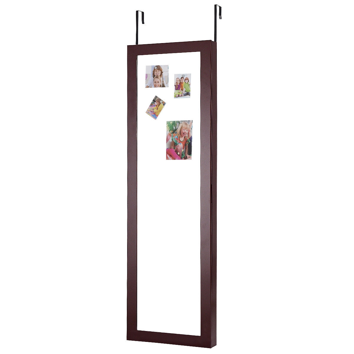 Wall Door Mounted Magnetic Mirrored Jewelry Cabinet