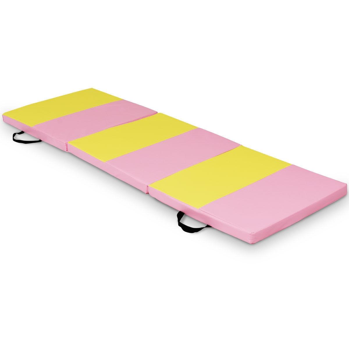 6' x 2' Folding Fitness Exercise Carry Gymnastics Mat