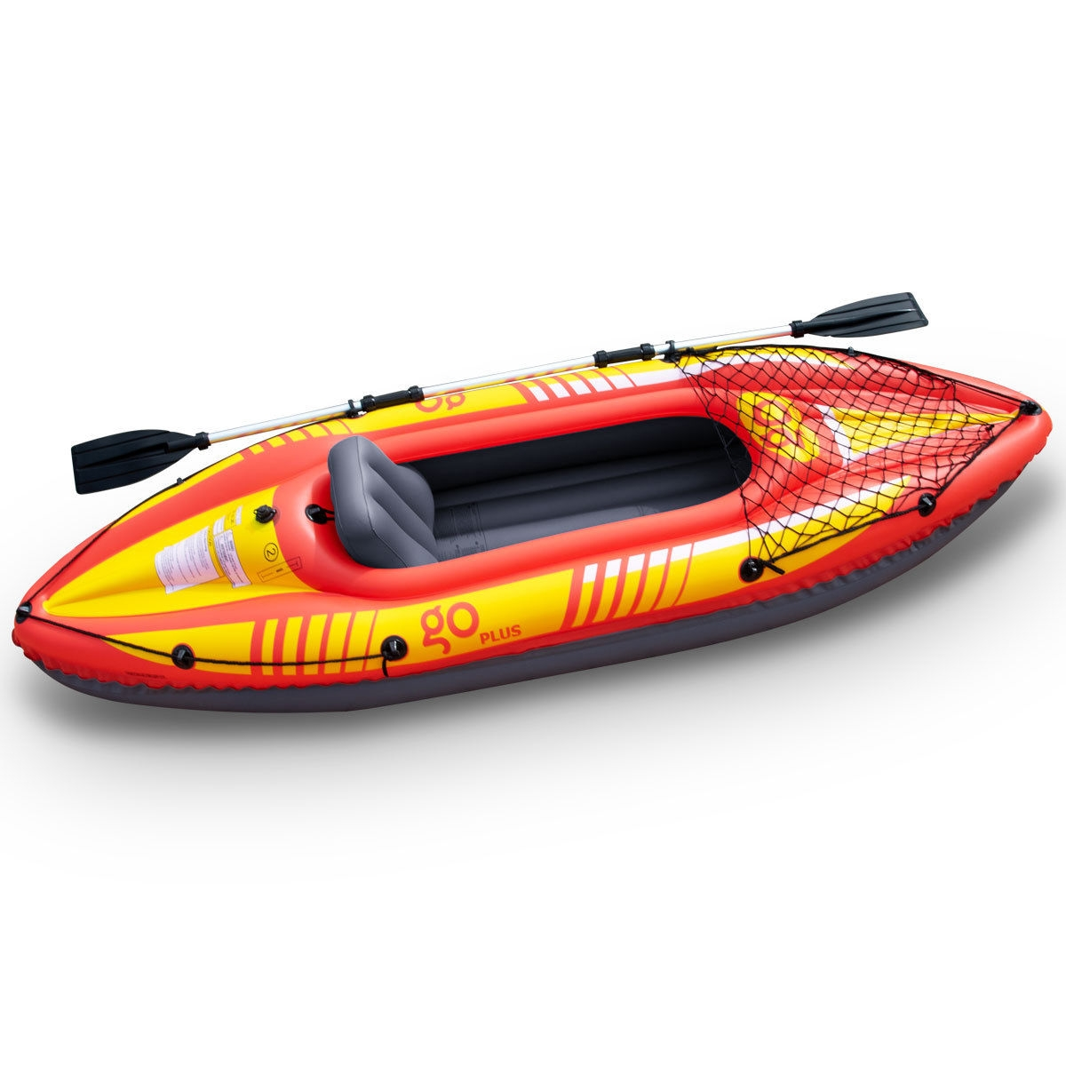 Goplus 1-Person Inflatable Canoe Boat Kayak Set with Oar and Hand Pump