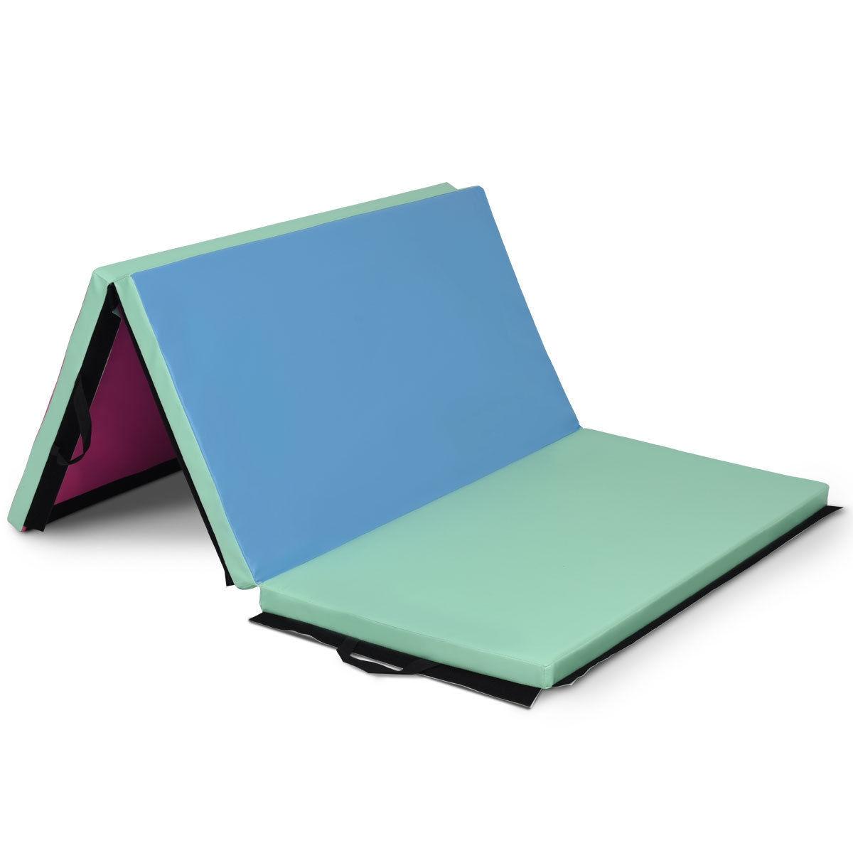 4' x 6' x 2' Portable PU Exercise Aerobics Gymnastic Mat