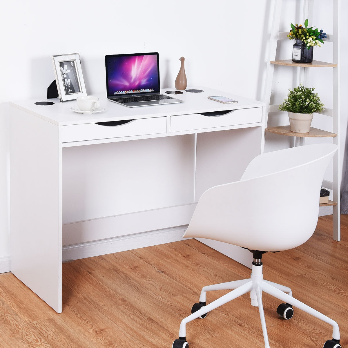 Modern Writing Bluetooth Speakers Drawer USB Computer Desk