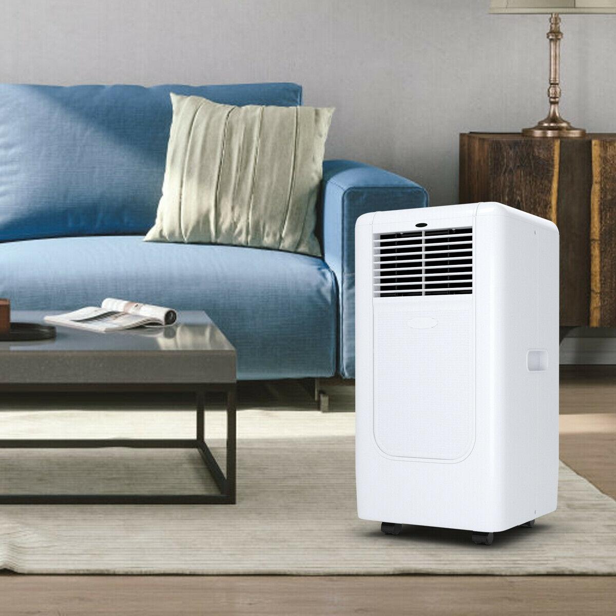 Portable 10000 BTU Air Conditioner Cooling Dehumidify Timer Remote