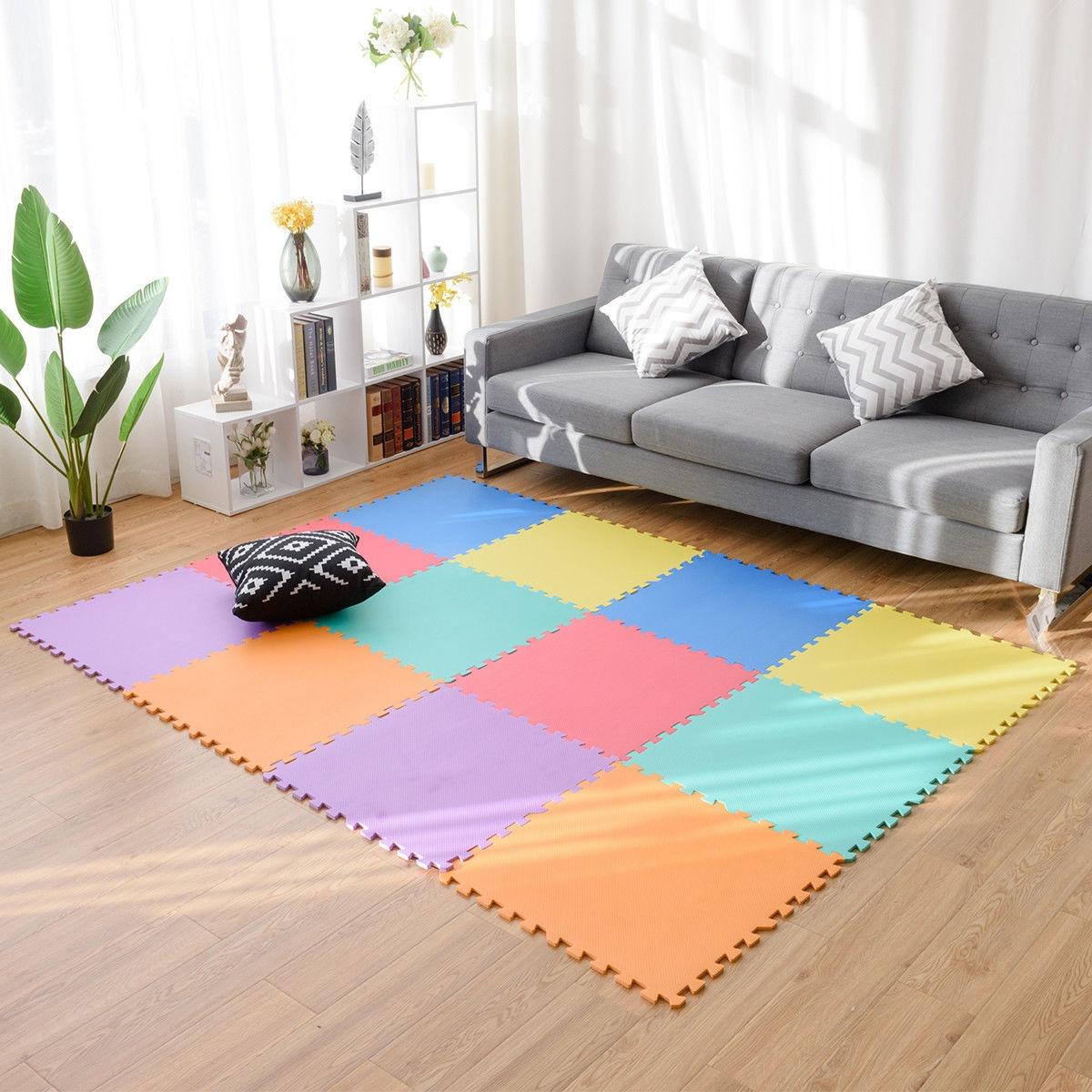 12 pcs Baby Kids Carpet Puzzle Exercise Mat