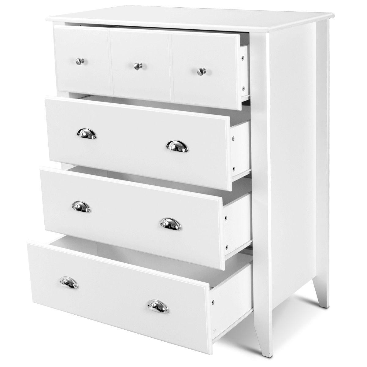 Modern 4 Drawers Chest Dresser Storage Cabinet