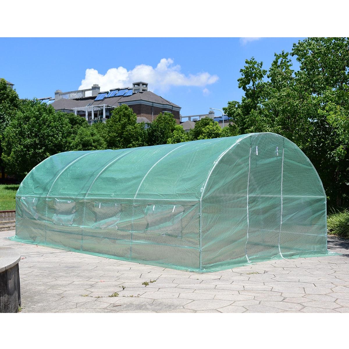 10' x 6.5' x 20' 8 Windows Backyard Walk-in Greenhouse