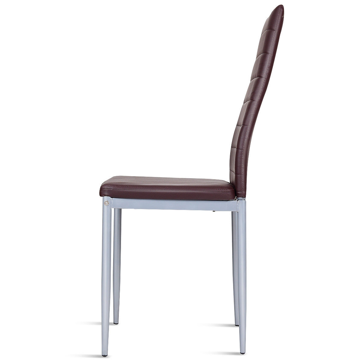 4 pcs PVC Leather Dining Side Chairs Elegant Design