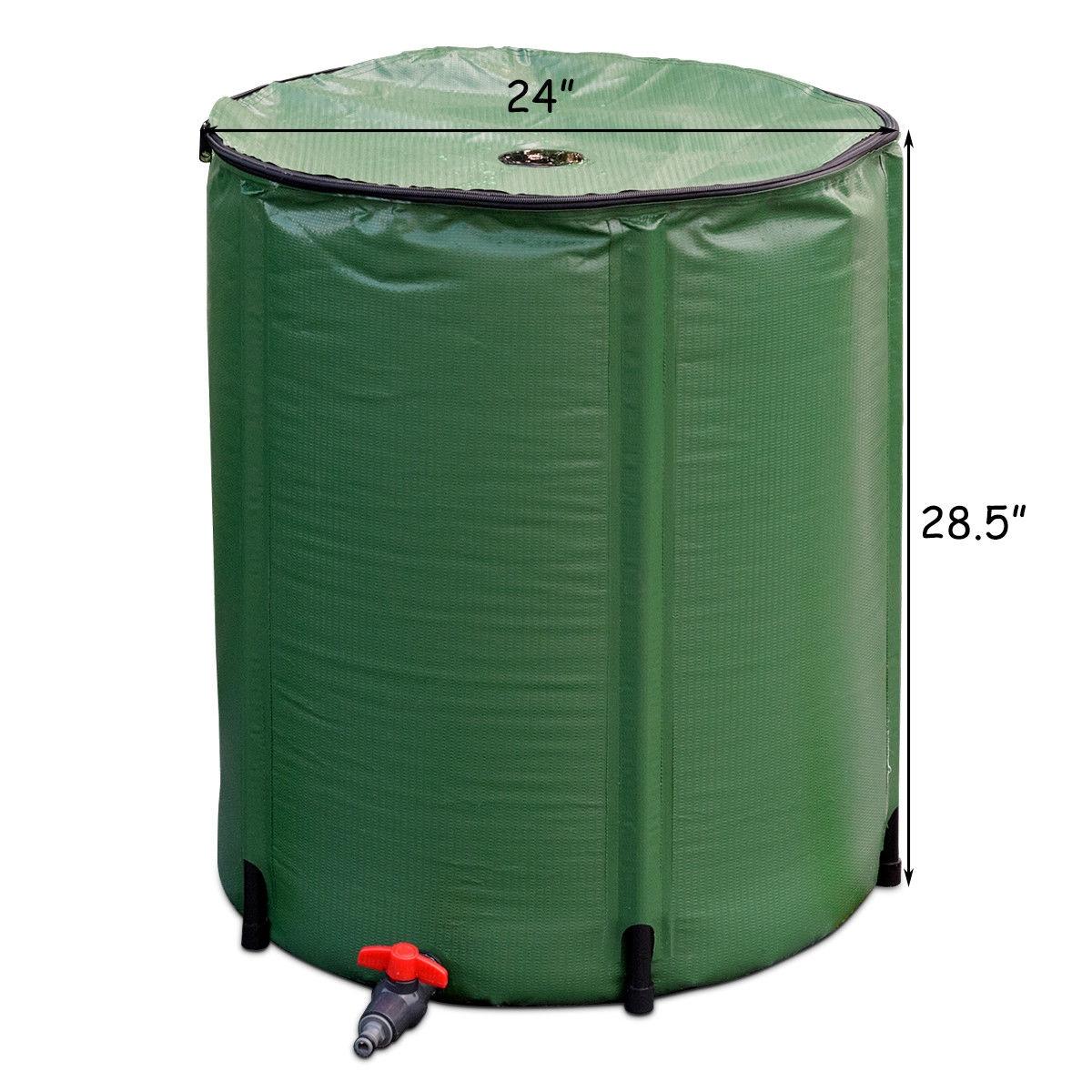 53 Gallon Portable Collapsible Rain Barrel Water Collector