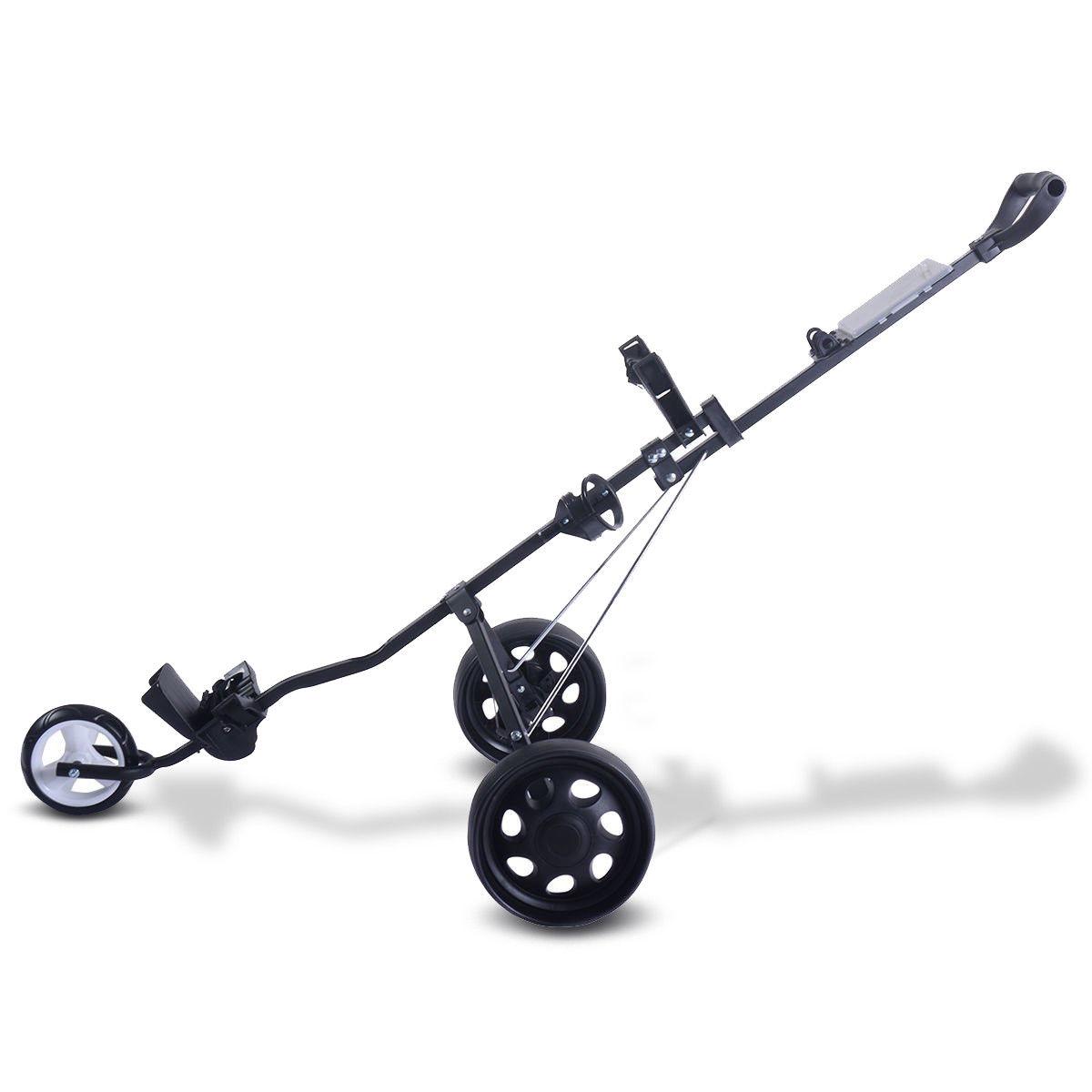 Folding Pull Push Golf Cart 3 Wheel Trolley