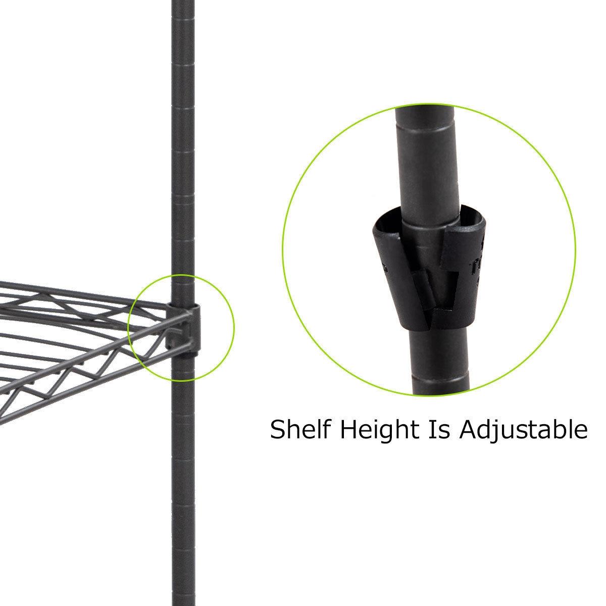3-Tier Portable Clothing Rack Garment Hanger