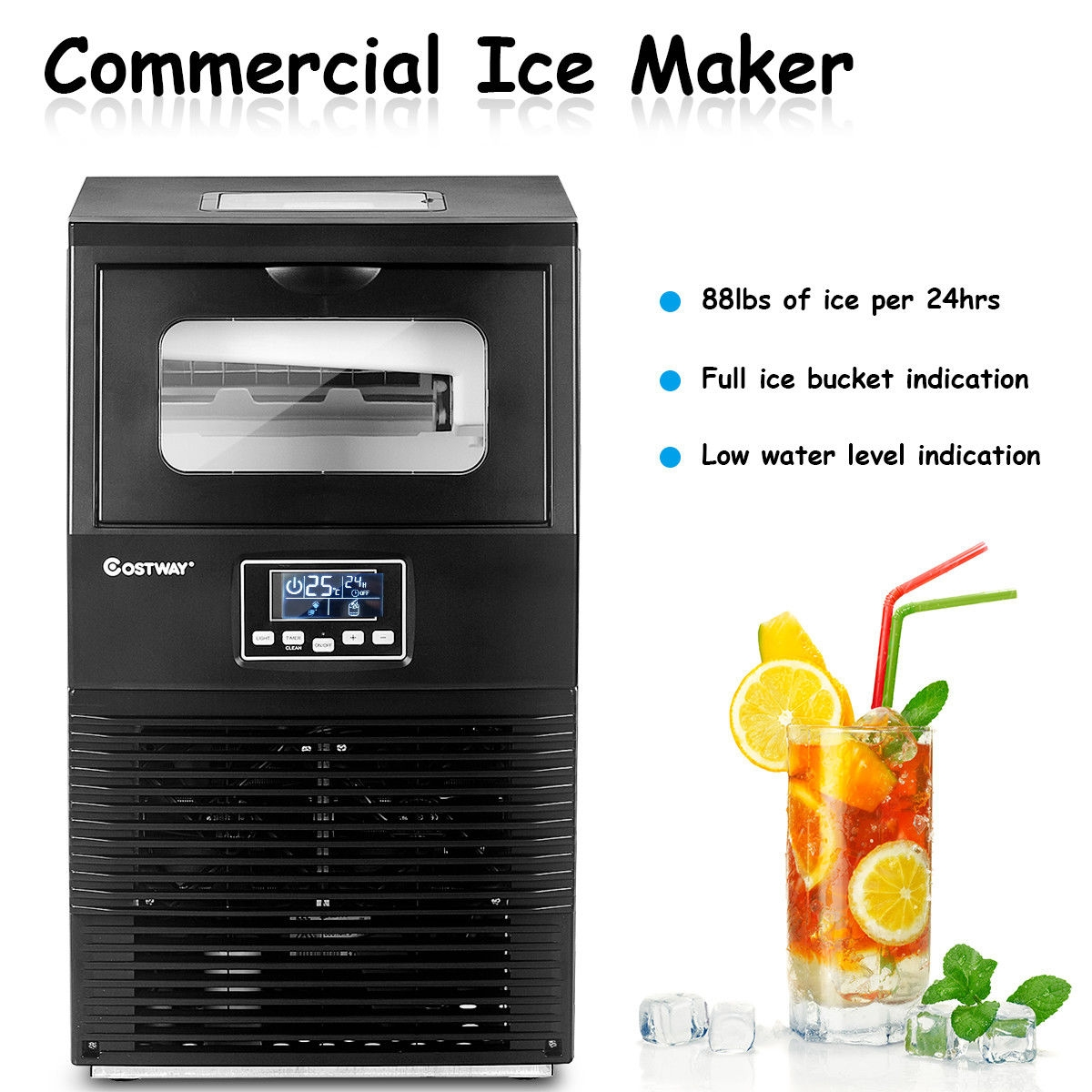 Portable Heavy Duty Built-In Commercial Ice Maker