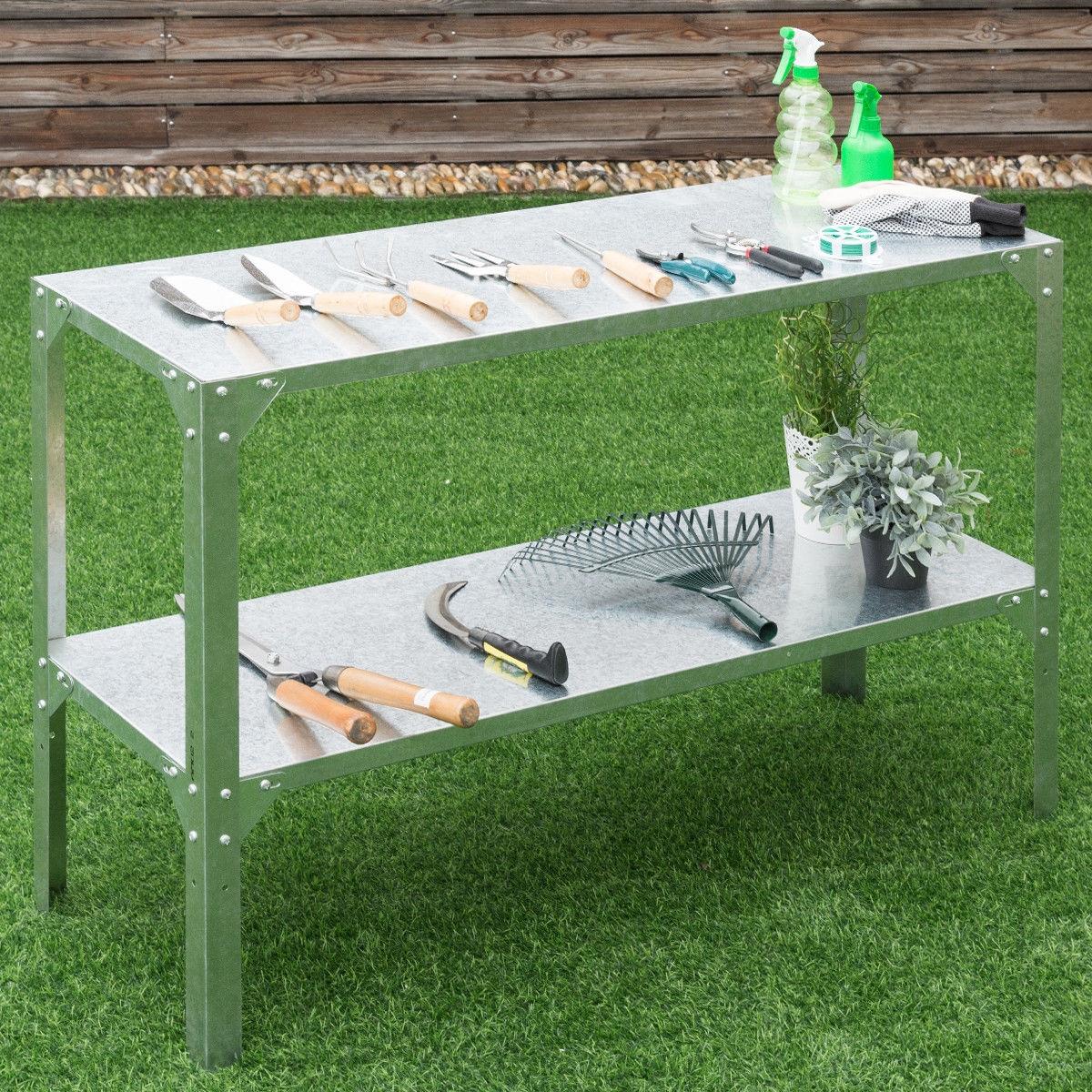 Galvanized Steel Workbench Greenhouse Work Potting Table