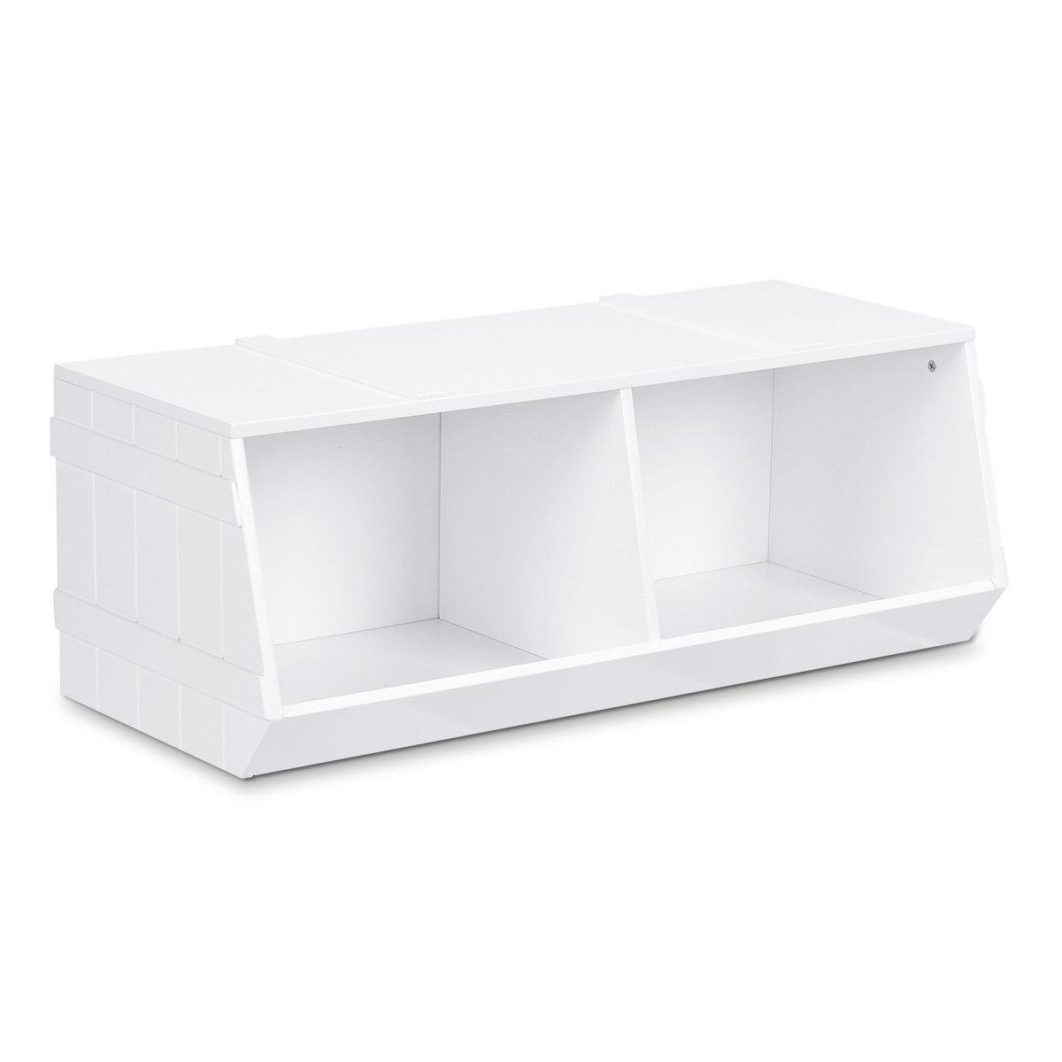 Kids Flexible Stackable Toy Box Organizer Storage Cabinet