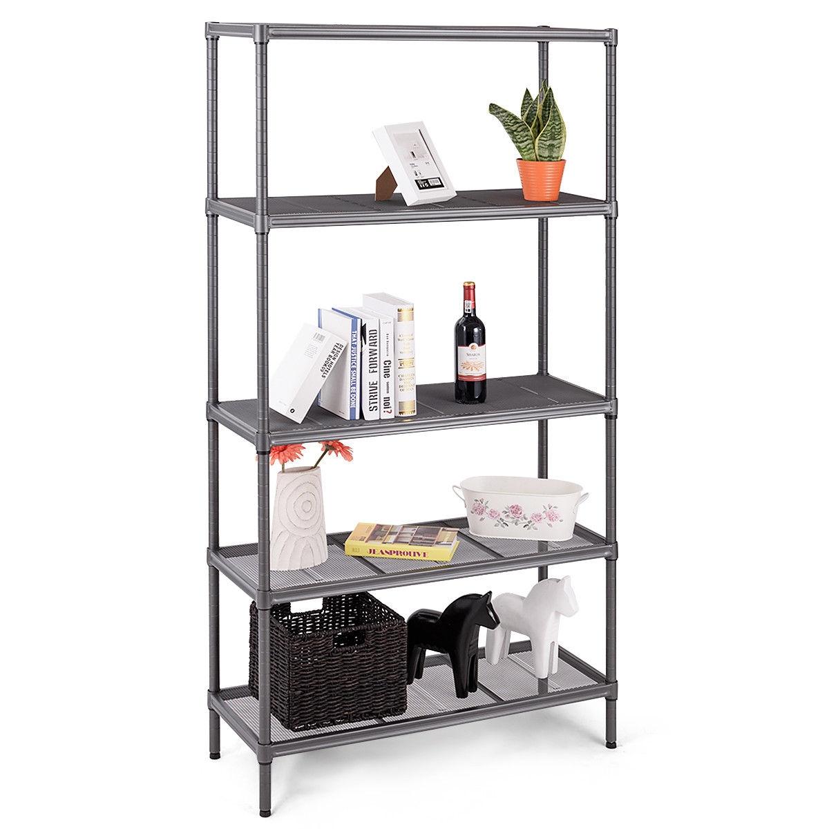 Steel Mesh Organization Home Kitchen Storage Shelf Rack-5