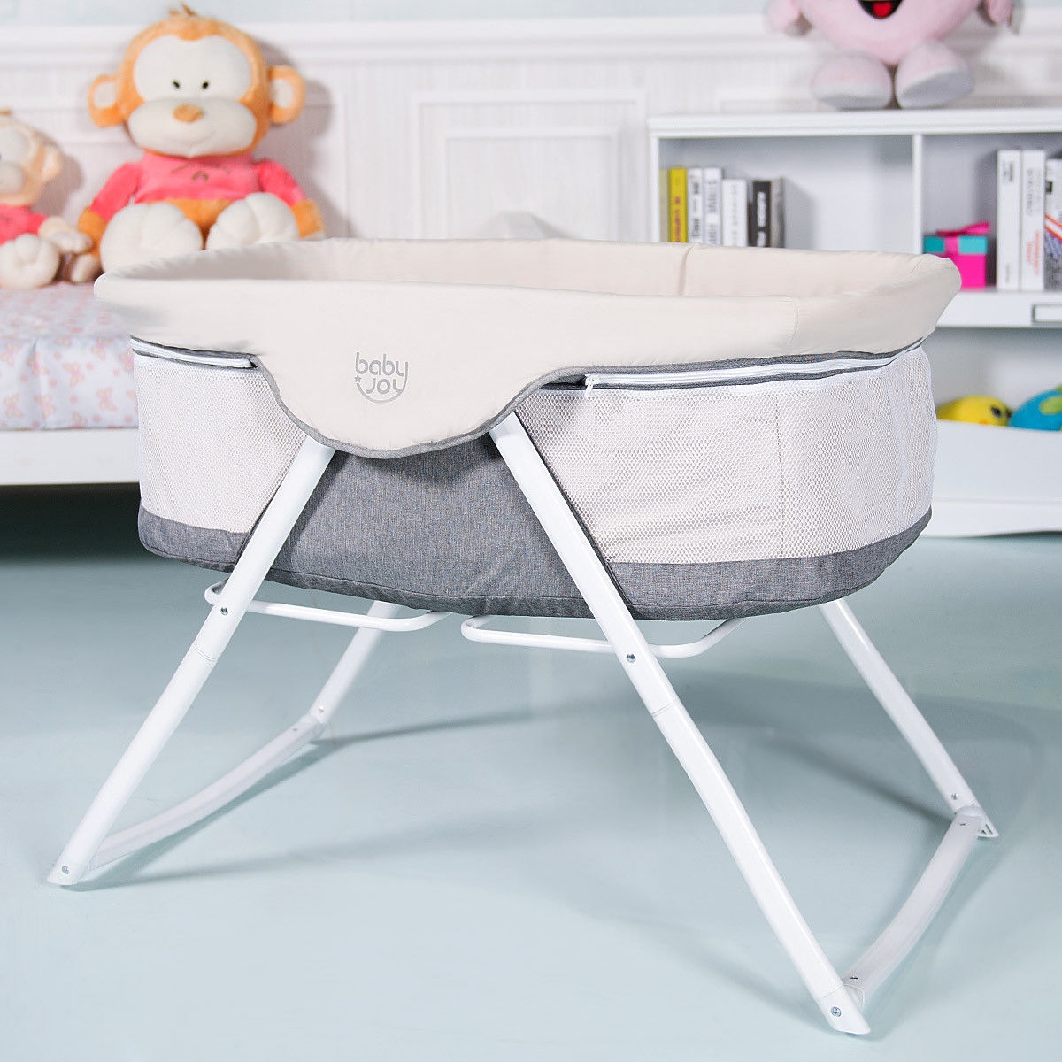 Portable Newborn Rocking Foldaway Baby Bassinet Crib